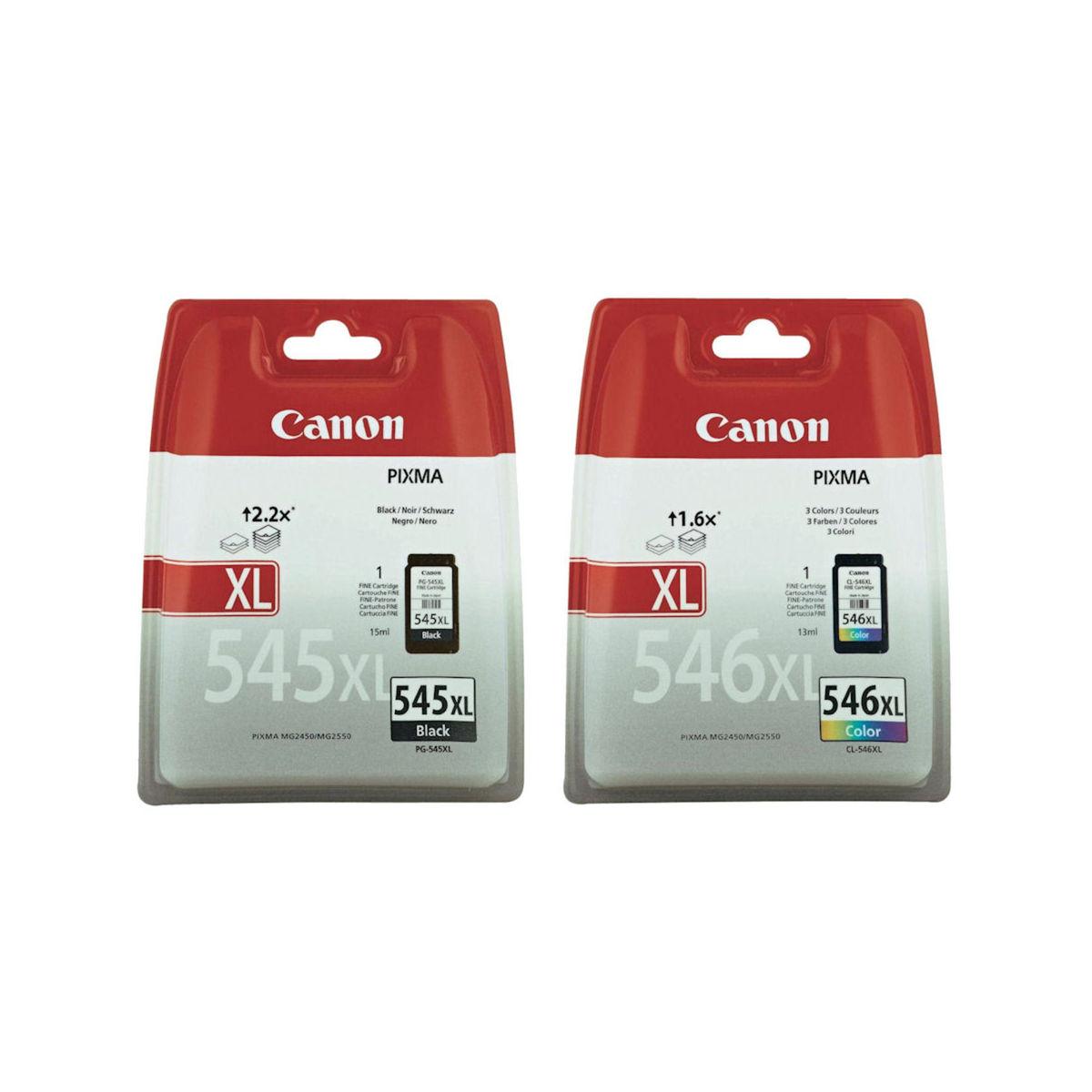 Canon - Inktcartridge PG-545XL/CL546XL - BL/C/M/Y