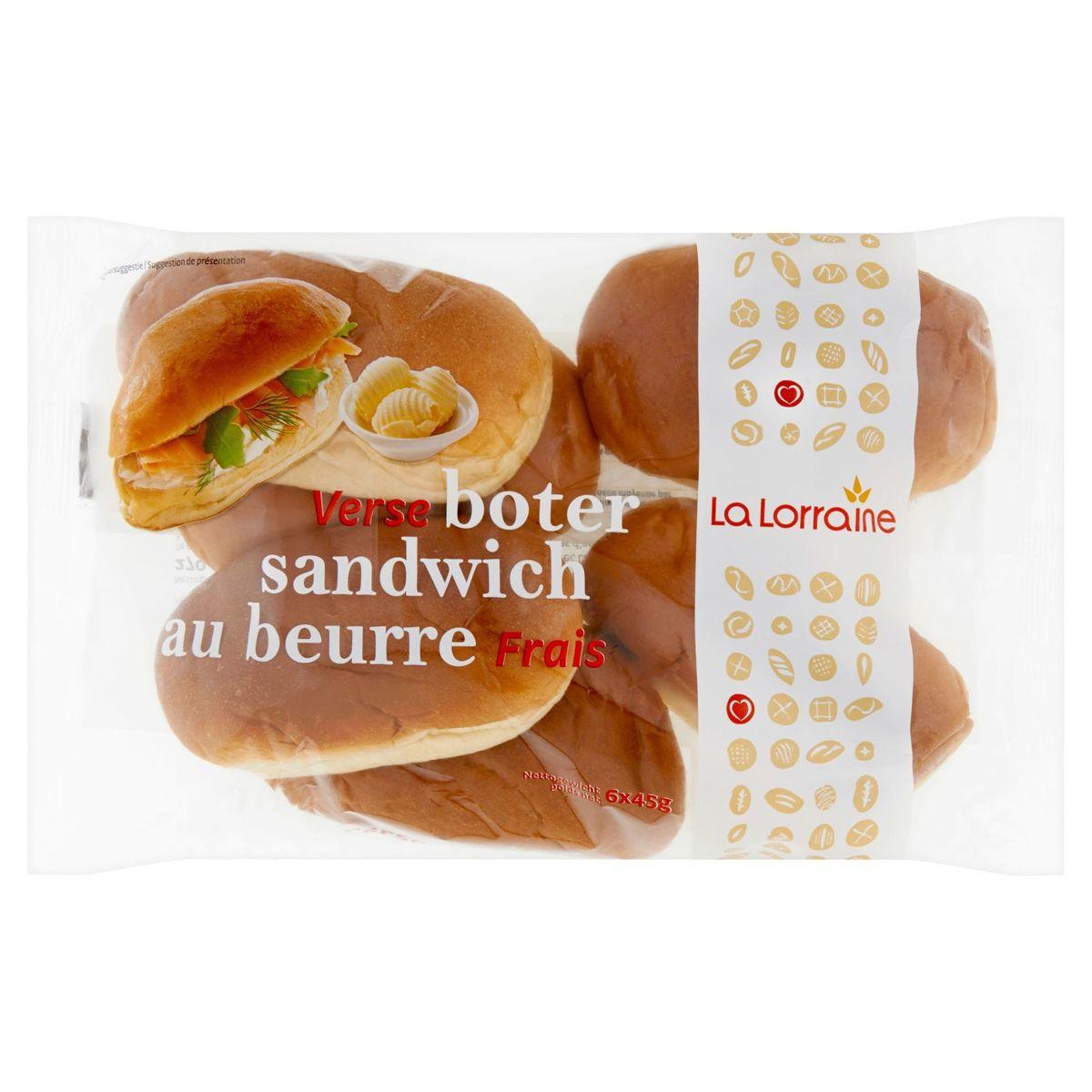 La Lorraine Sandwich au Beurre Frais 6 x 45 g