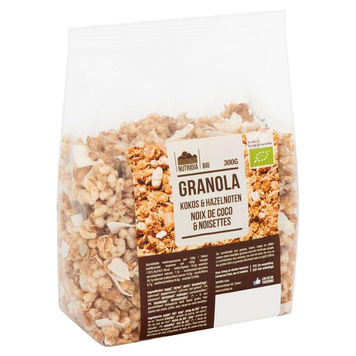 Nutridia Bio Granola Noix de Coco & Noisettes 300 g