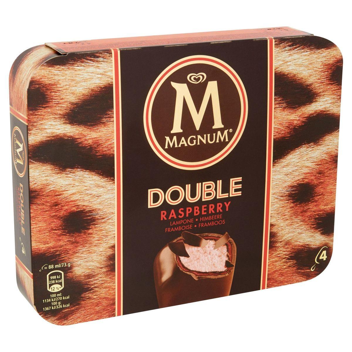 Magnum Ola Ijs Multipack Double Raspberry 4 x 88 ml