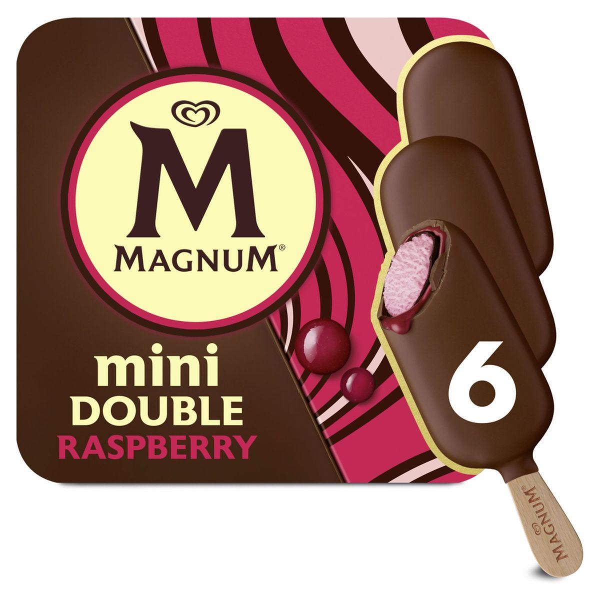 Magnum Ola Ijs Mulitpack Mini Double Raspberry 6 x 60 ml