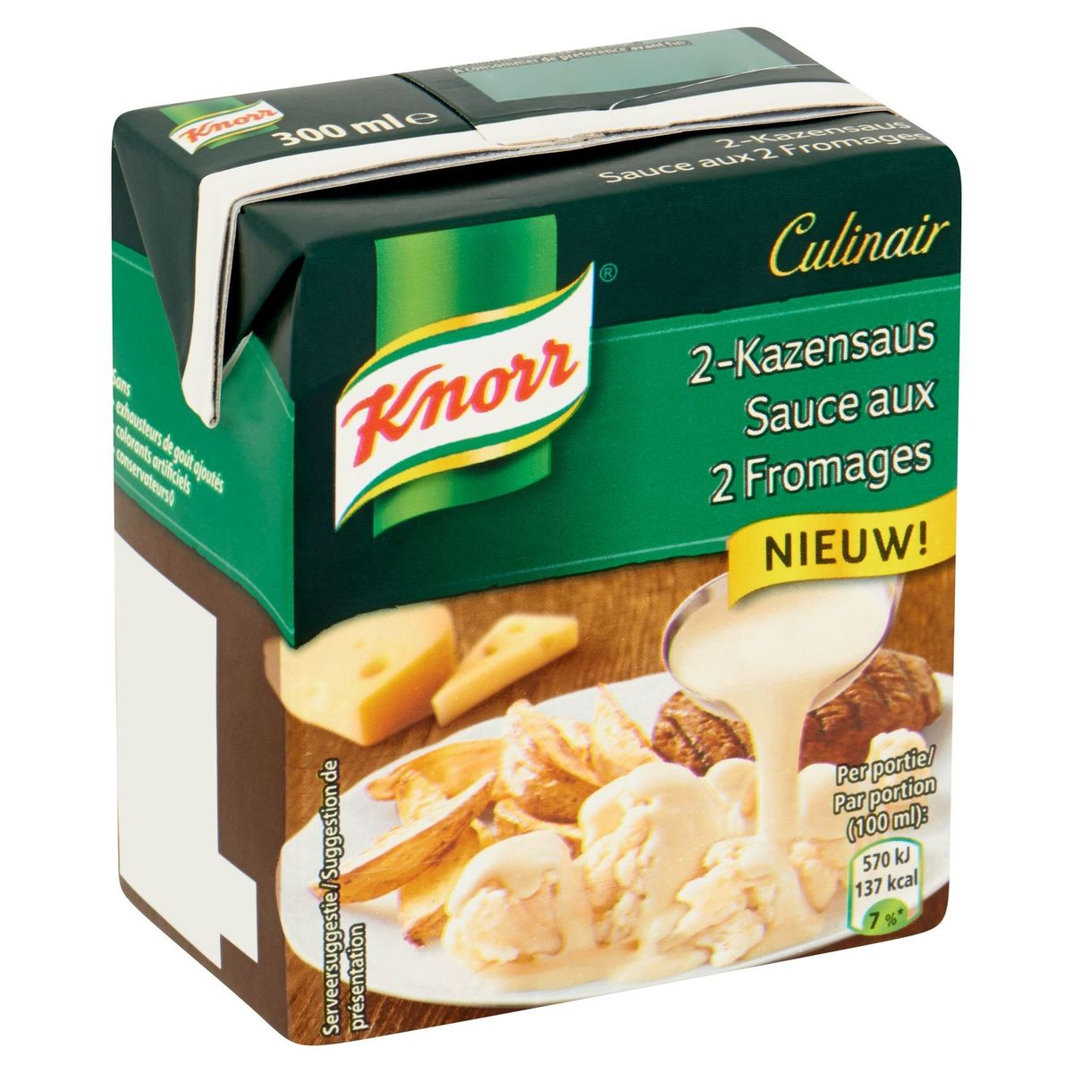 Knorr Culinair Sauce aux 2 Fromages 300 ml
