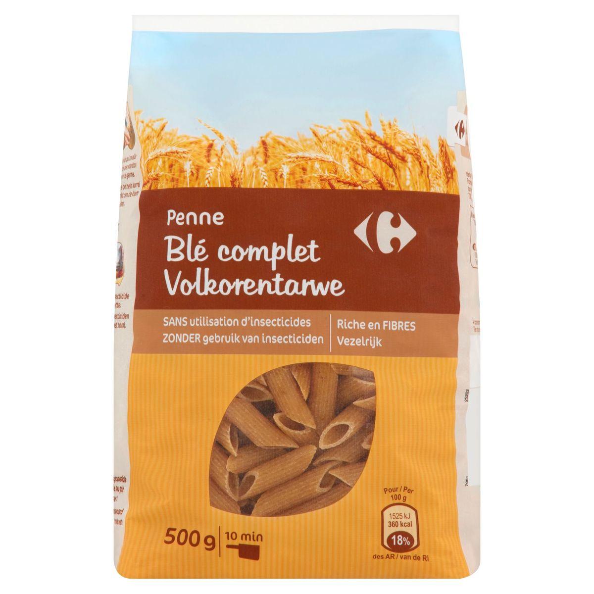 Carrefour Penne Volkorentarwe 500 g