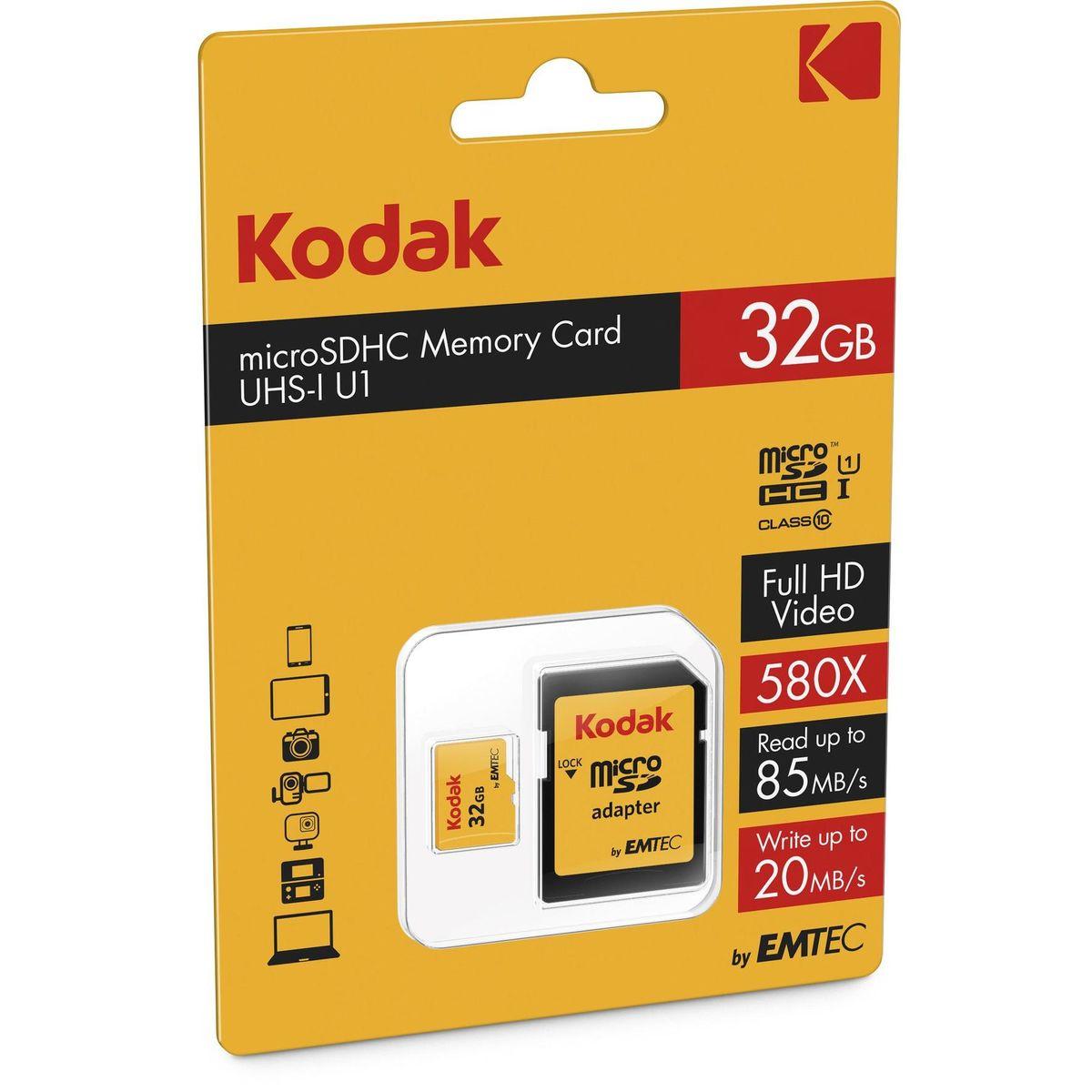 Kodak Geheugenkaart micro SDHC 32GB + adapter