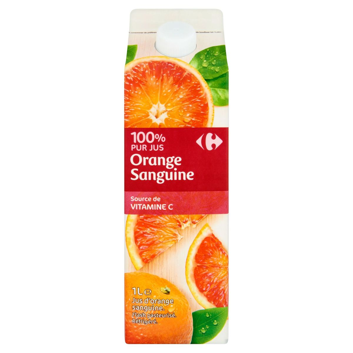 Carrefour 100% Puur Sap Bloedsinaasappel 1 L