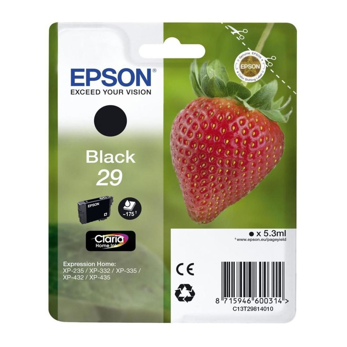Epson - Inktcartridge T2981 - Zwart