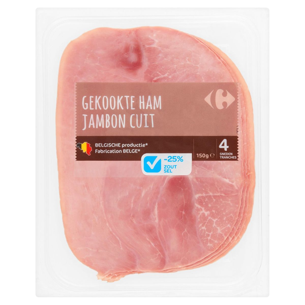 Carrefour Jambon Cuit 4 Tranches 150 g