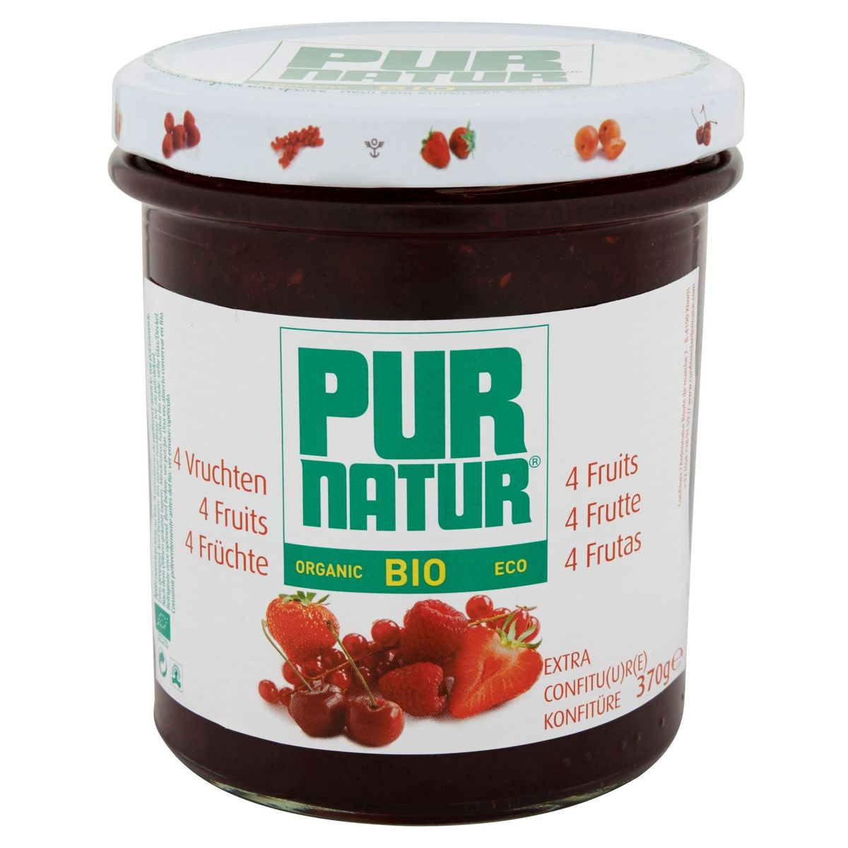 Pur Natur Bio 4 Fruits Extra Confiture 370 g