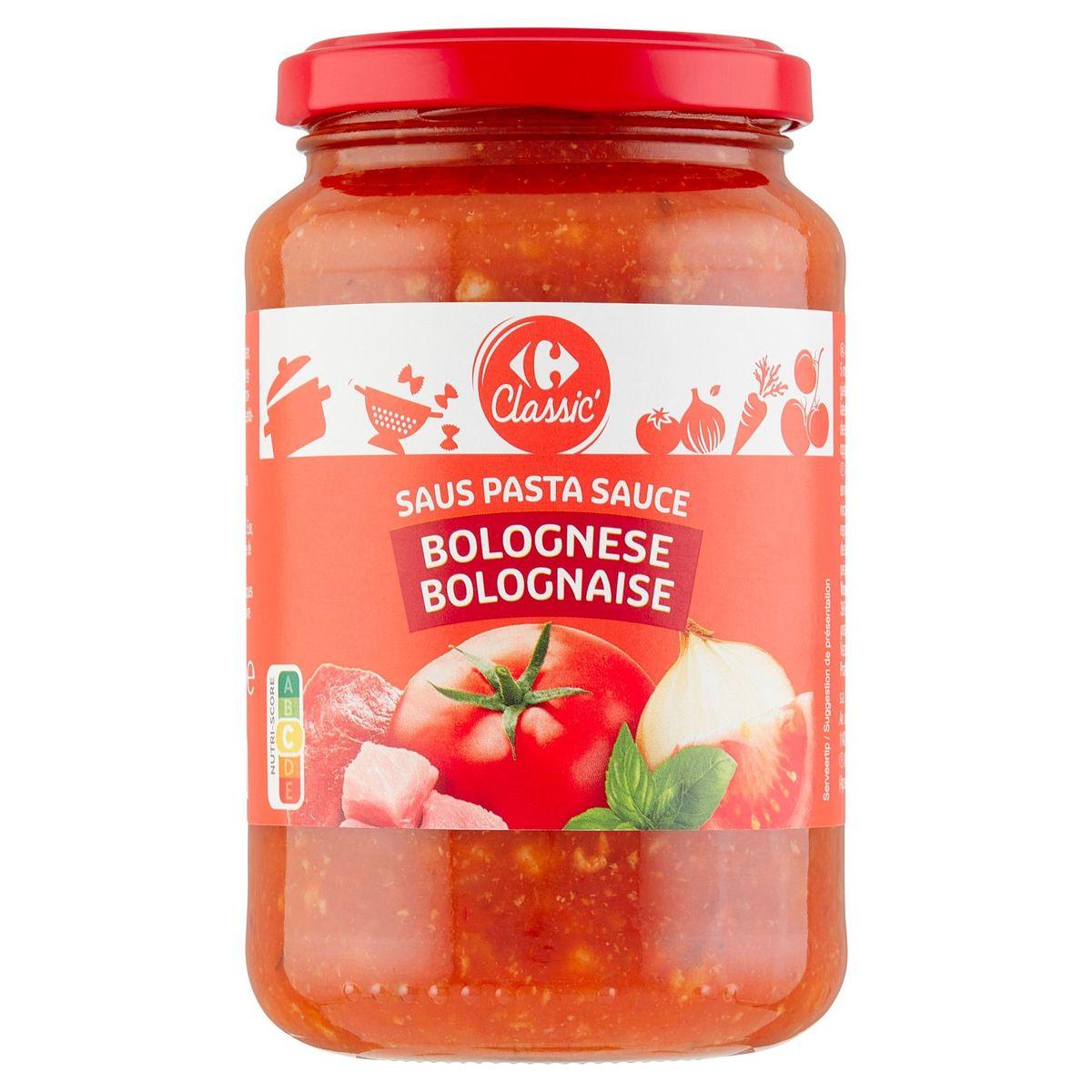 Carrefour Pasta Sauce Bolognese avec Viande de Porc & Boeuf 430 g