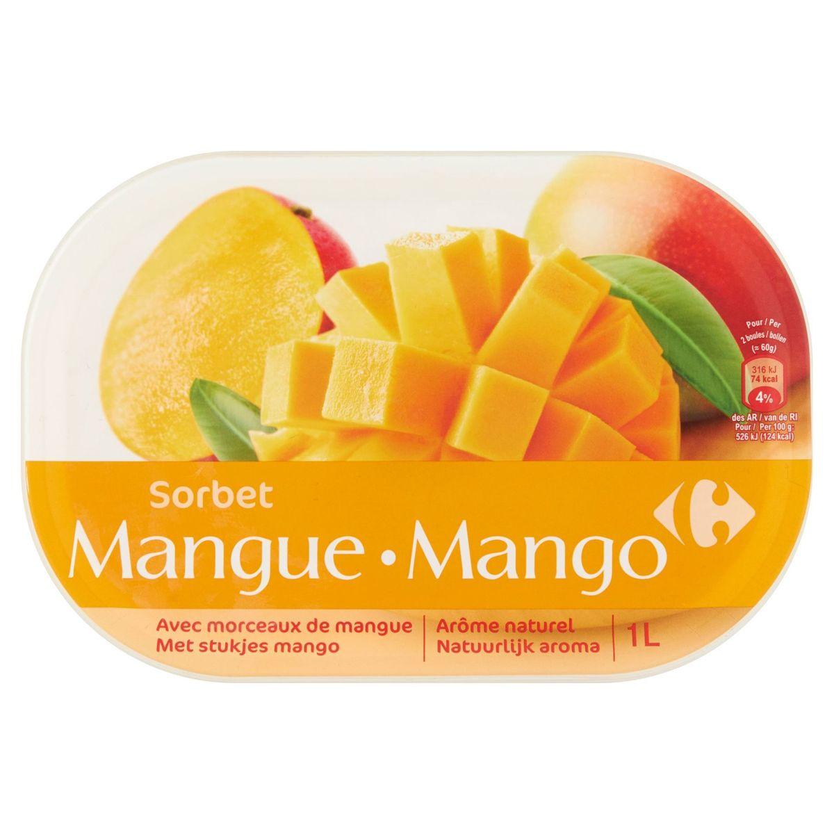 Carrefour Sorbet Mangue 600 g
