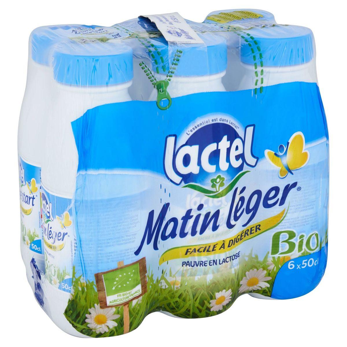 Lactel Matin Léger Bio 6 x 50 cl