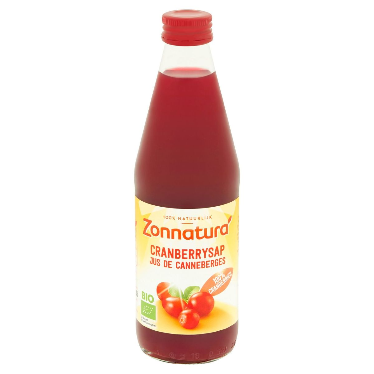 Zonnatura Bio Jus de Canneberges 330 ml