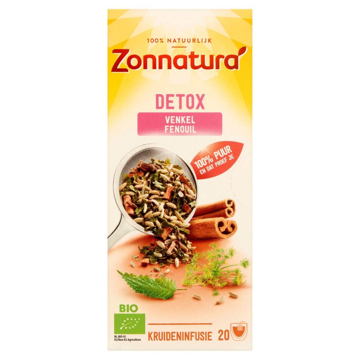 Zonnatura Detox Fenouil 20 Sachets 34 g
