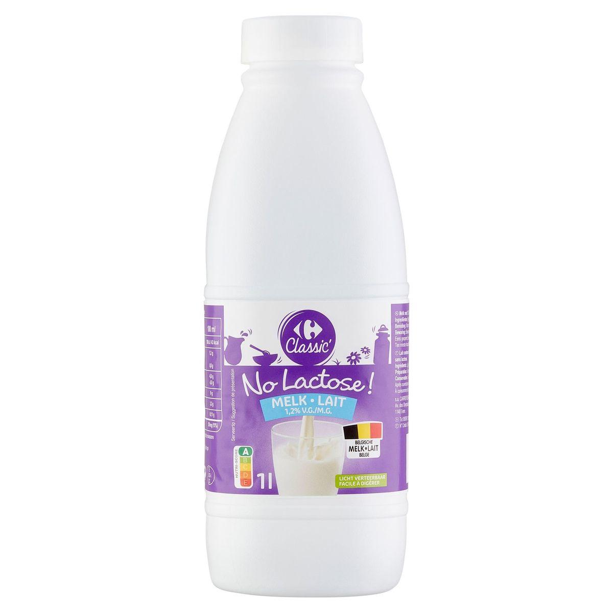 Carrefour Lait 1.2% M.G. 1 L