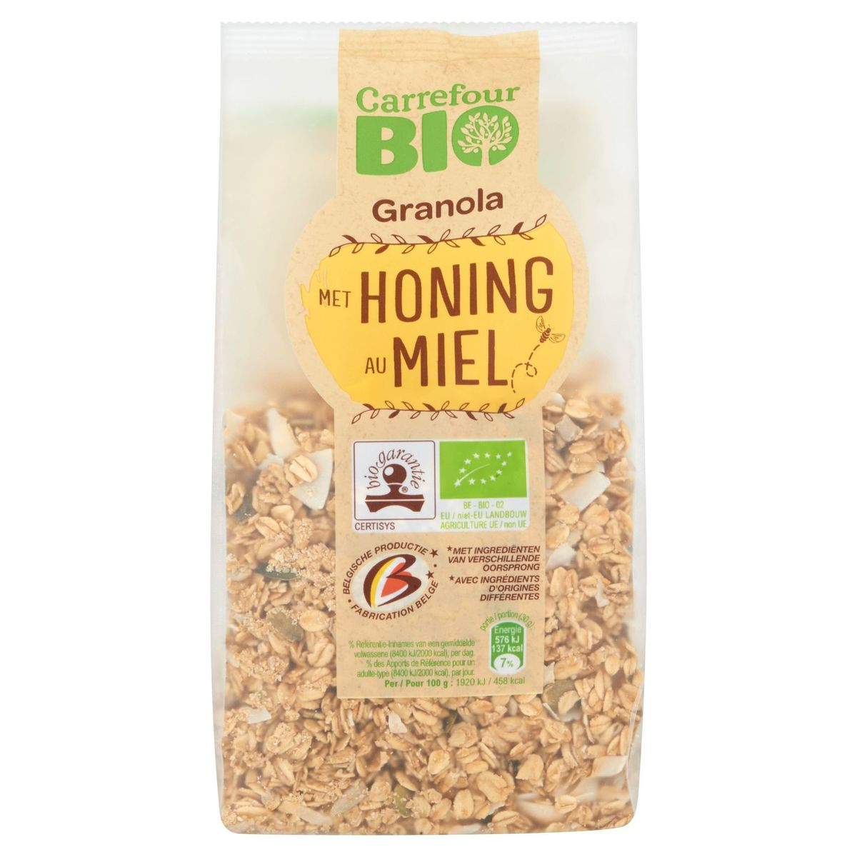 Carrefour Bio Granola au Miel 375 g