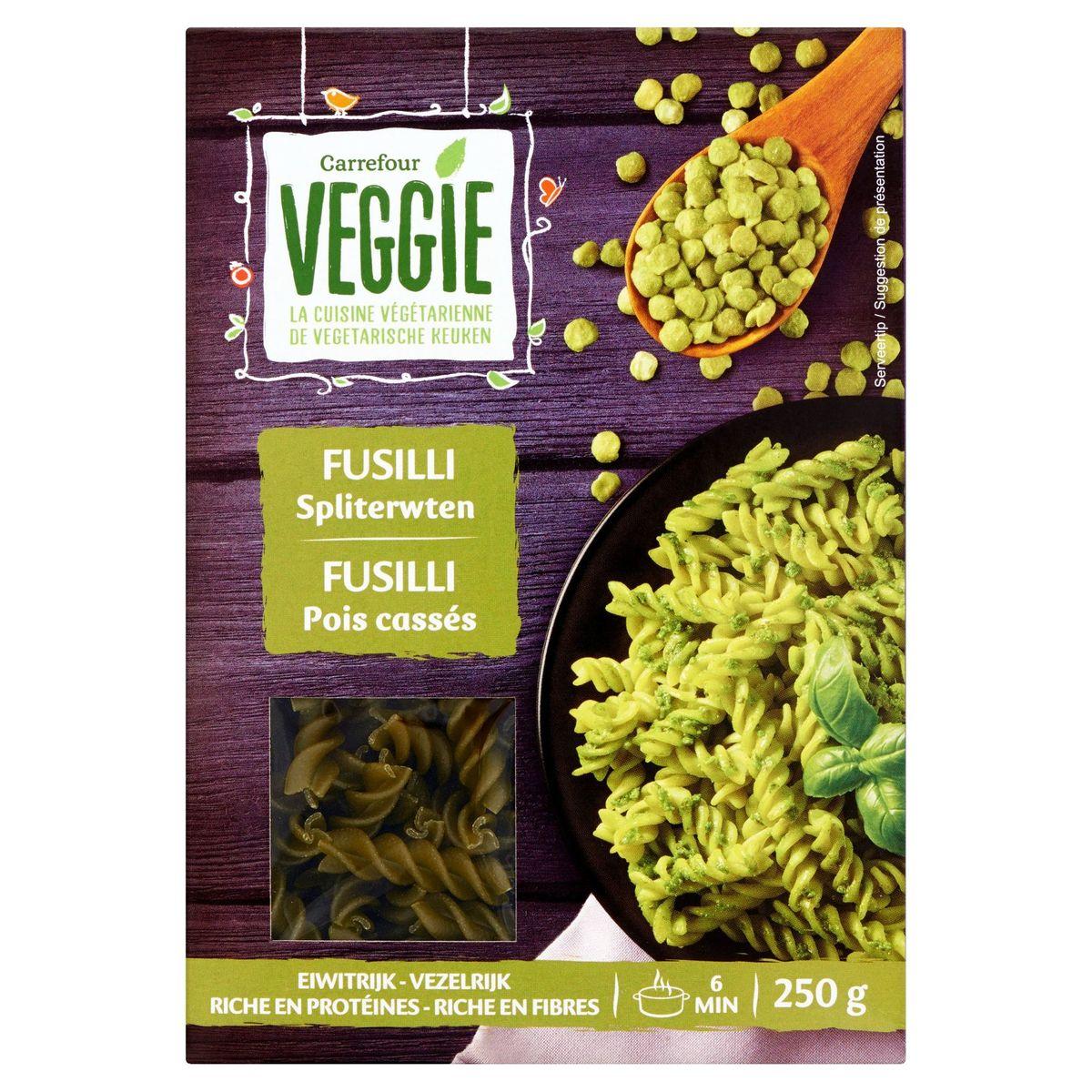 Carrefour Veggie Fusilli Spliterwten 250 g