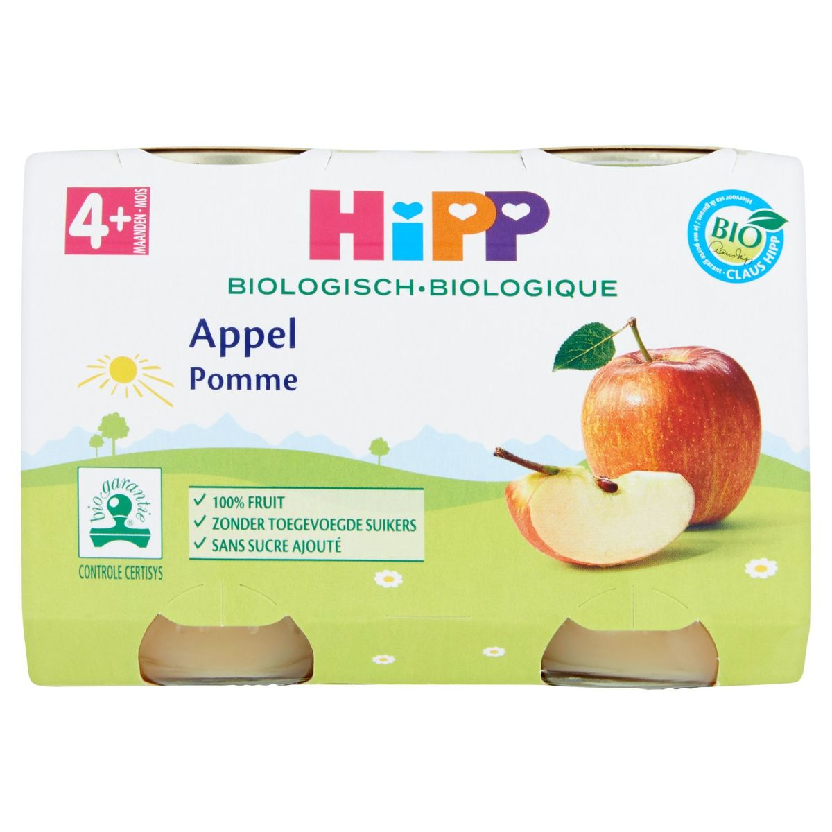 HiPP Biologisch Appel 4+ Maanden 2 x 125 g