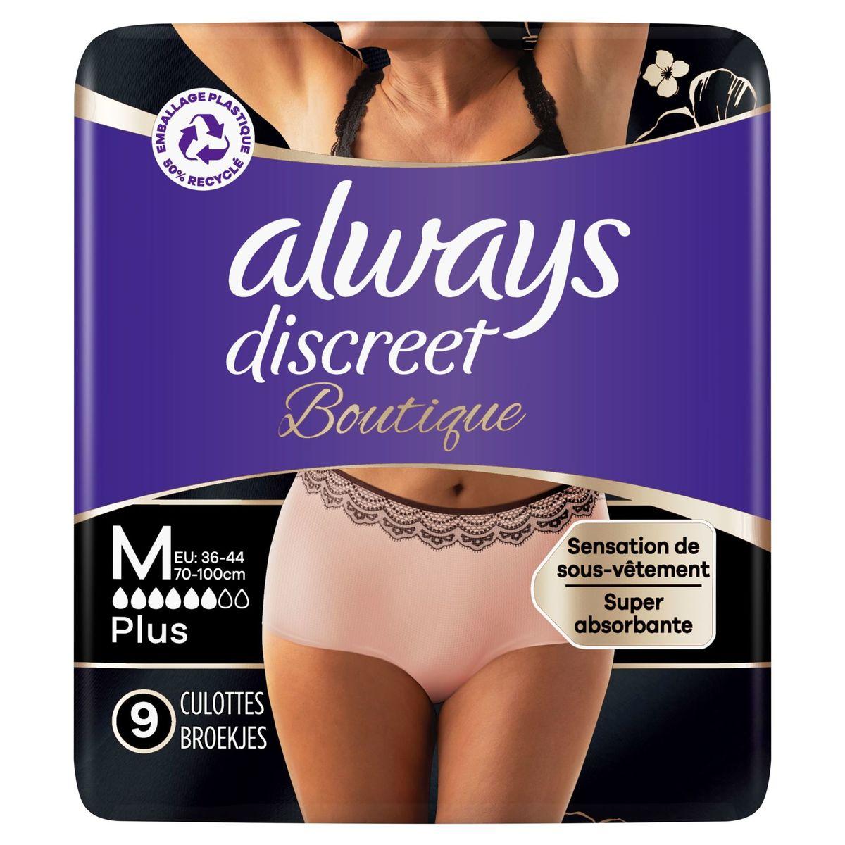 Always Discreet Boutique Broekjes Urineverlies M Perzik Kleur x9