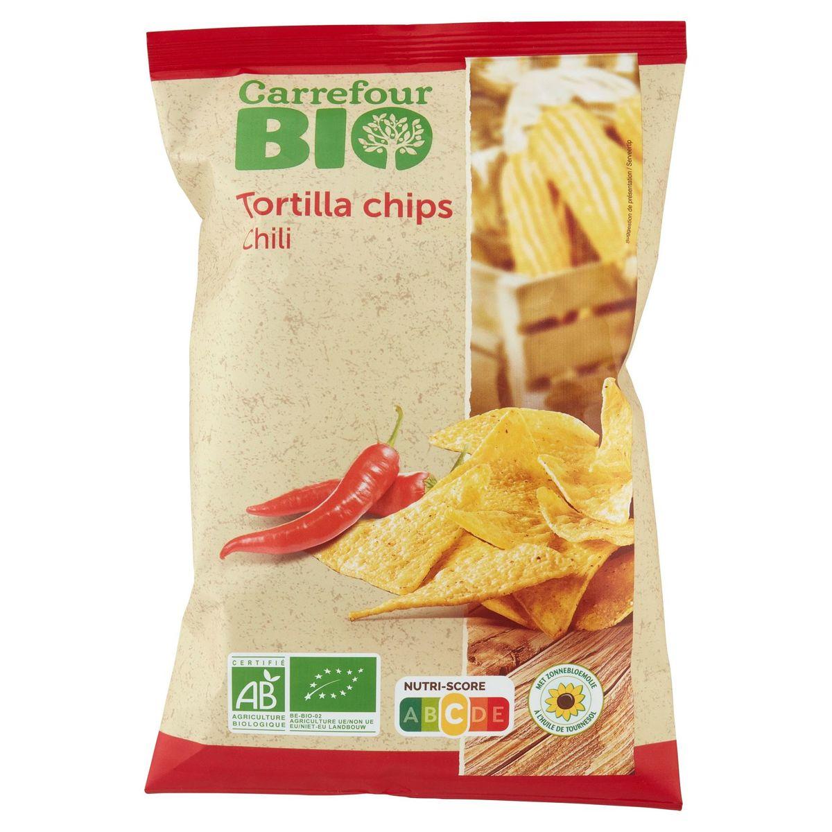Carrefour Bio Tortilla Chips Chili 125 g