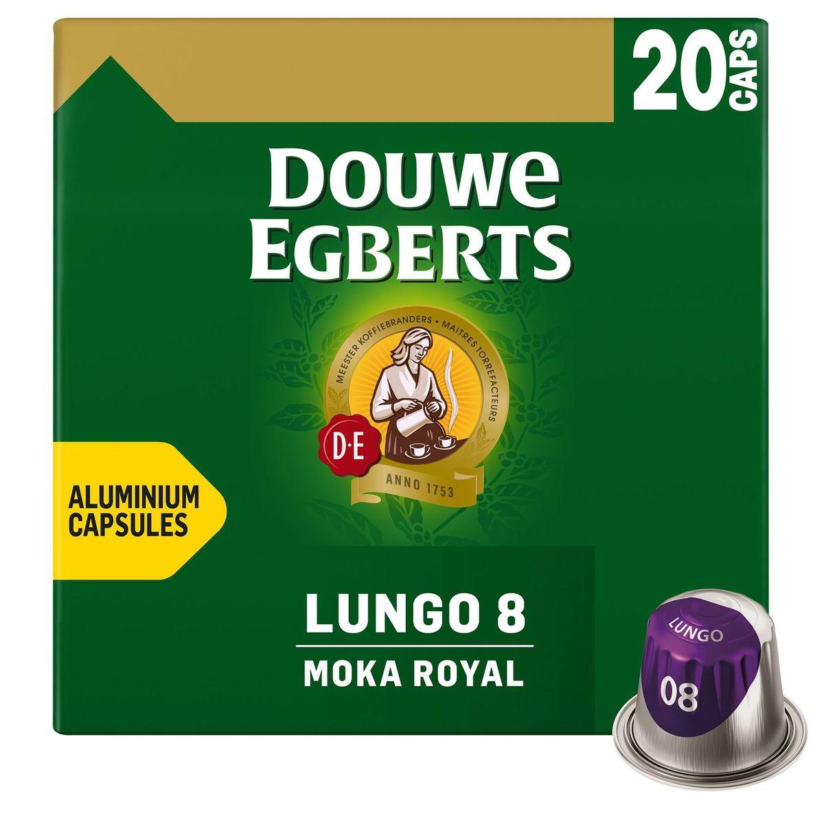 DOUWE EGBERTS Café Capsules Moka Royal Lungo Intensité 08 Nespresso® Compatible 20 pièces