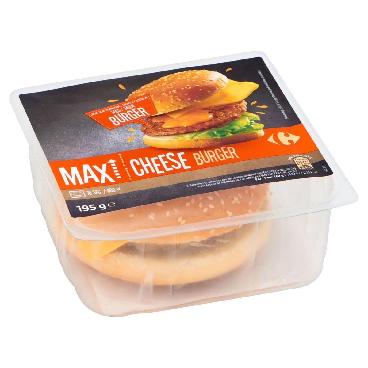 Carrefour Max Cheese Burger 195 g