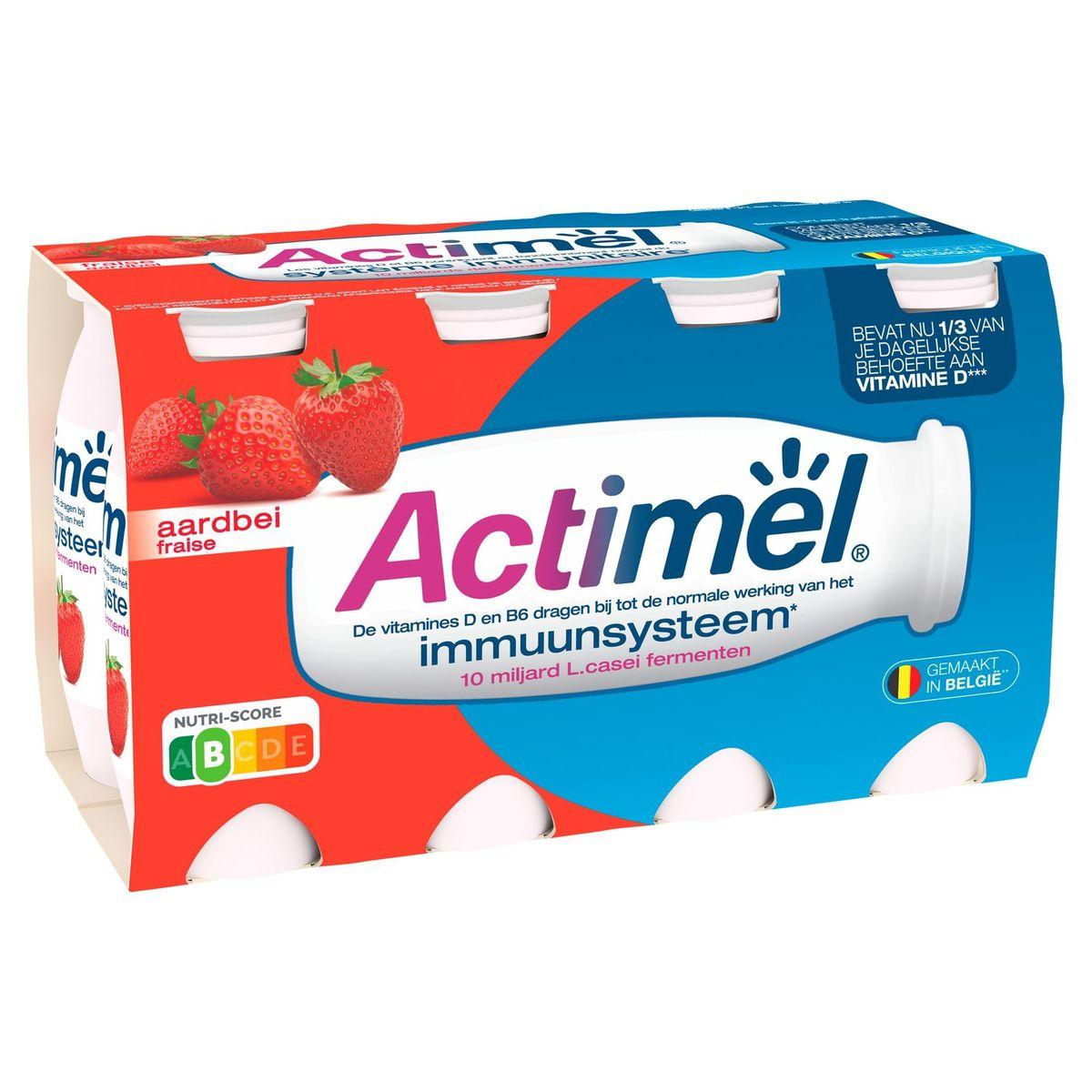 Actimel Yaourt à Boire Fraise contribue l'Immunité 8 x 100 g