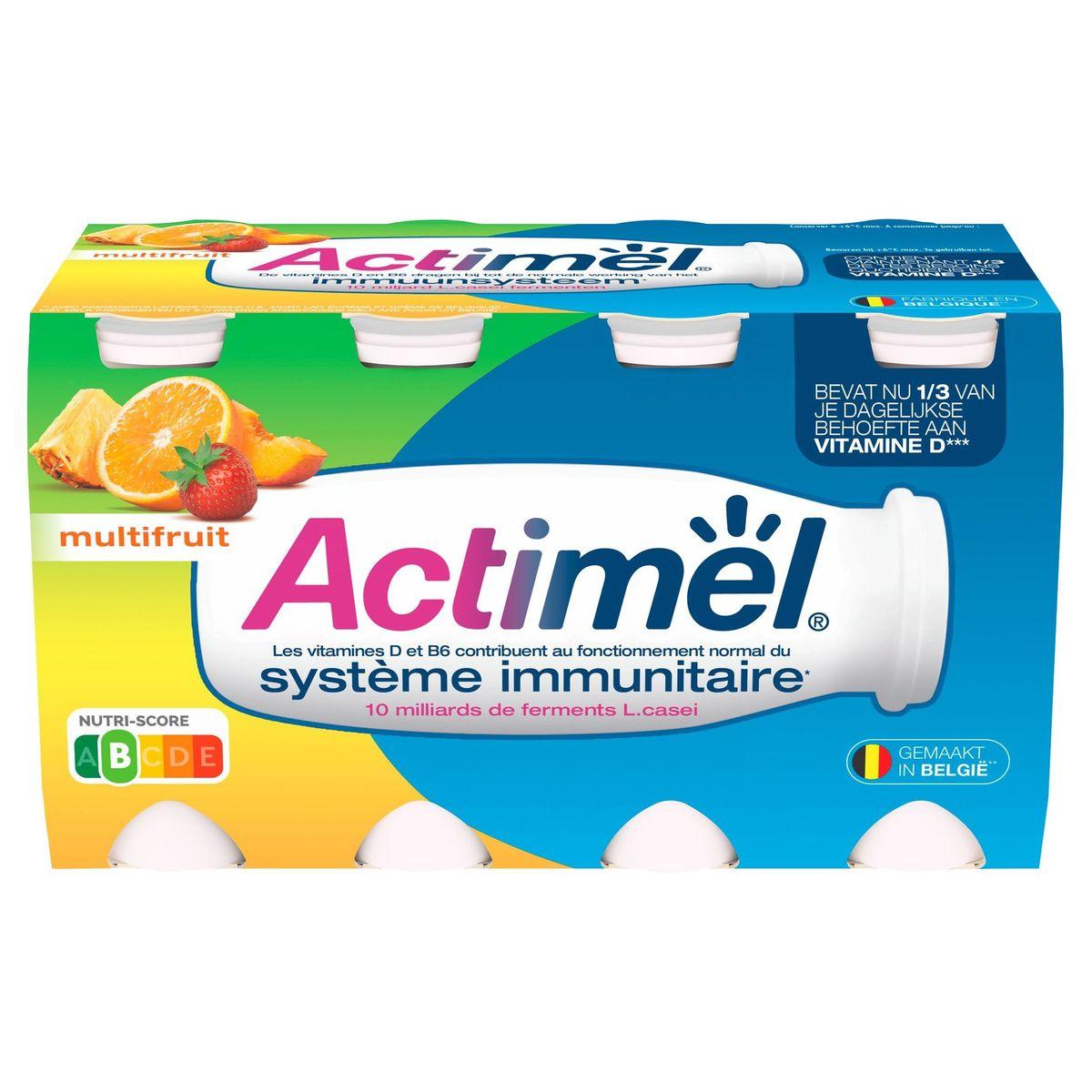 Actimel Yaourt à Boire Multifruit contribue l'Immunité 8 x 100 g