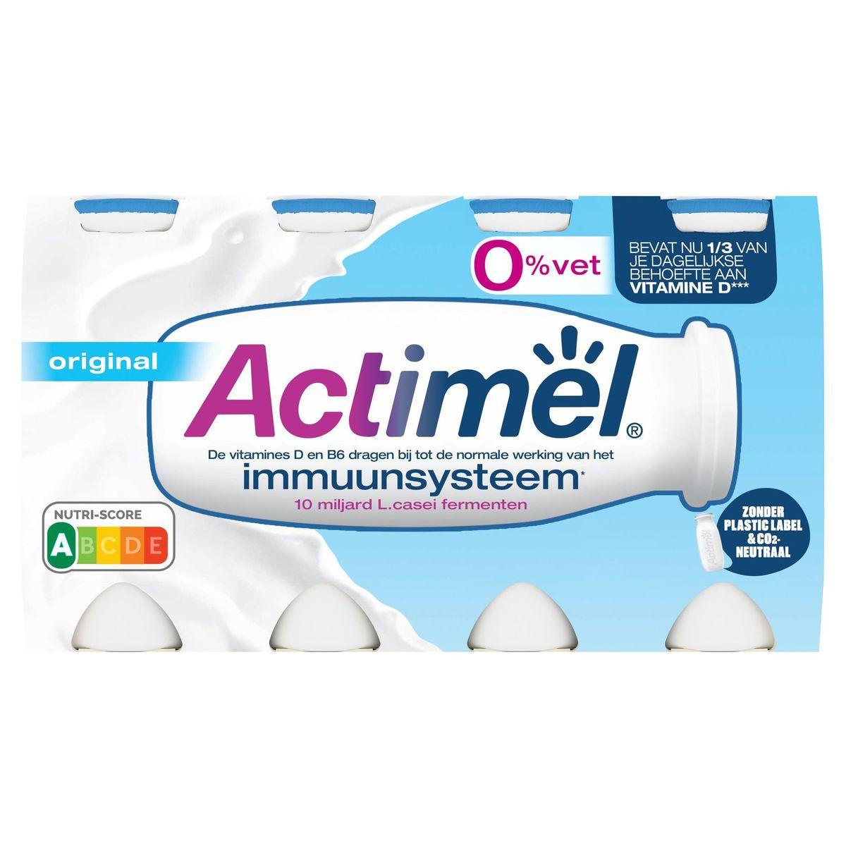 Actimel Yaourt à Boire Original 0% contribue l'Immunité 8 x 100 g