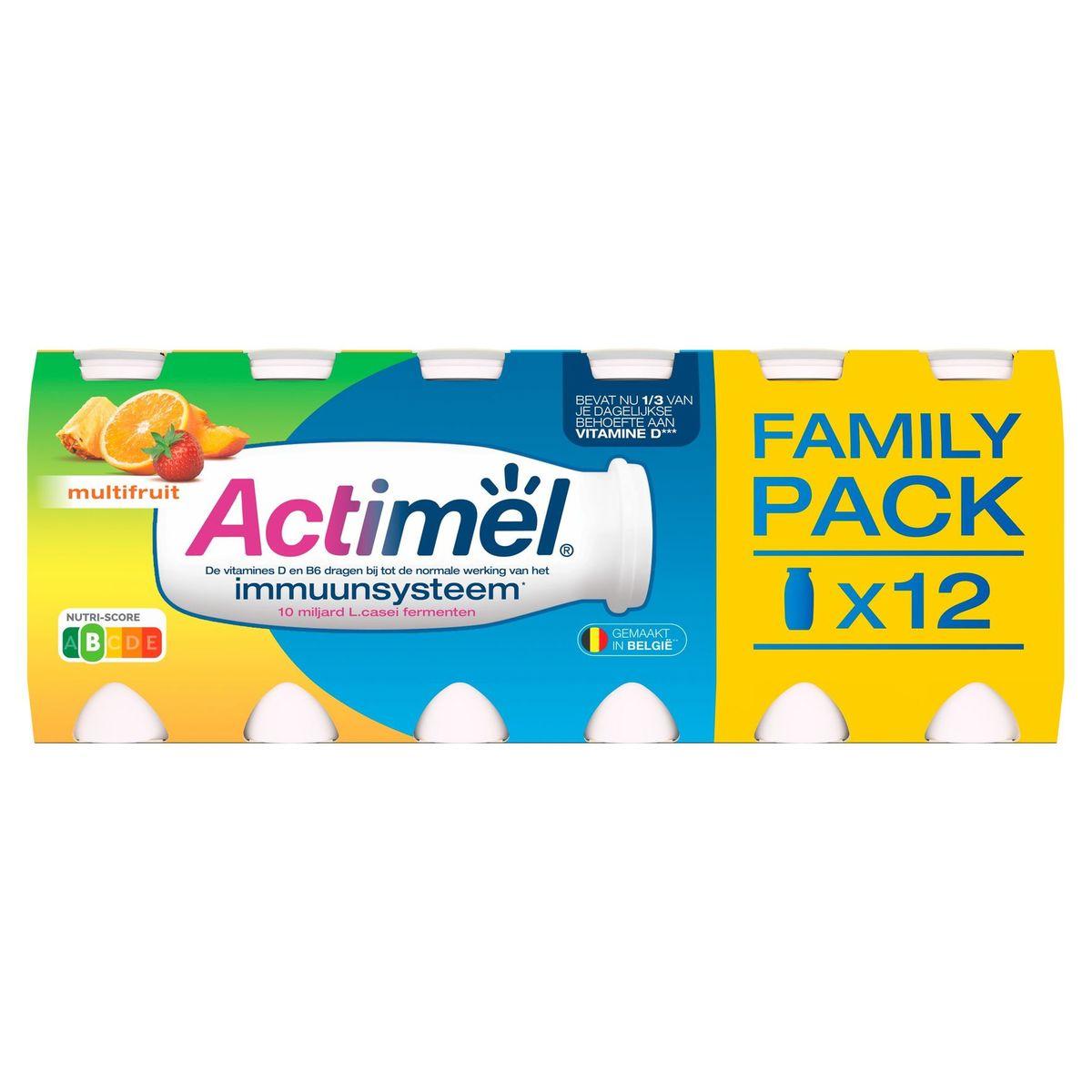 Actimel Yaourt à Boire Multifruit contribue l'Immunité 12 x 100 g