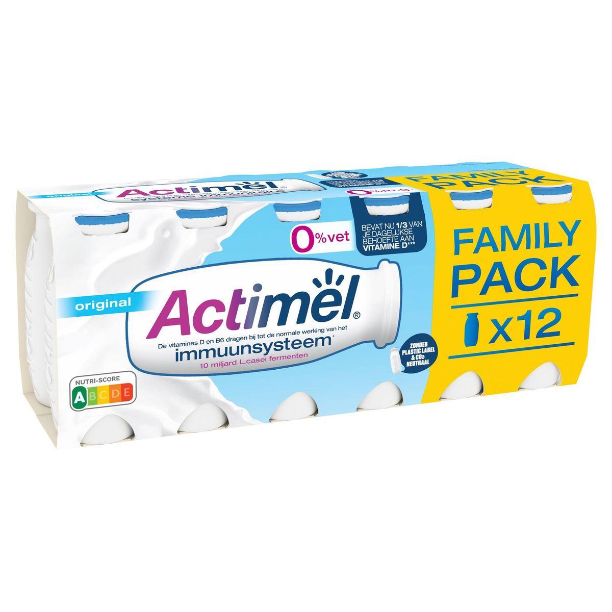 Actimel Yaourt à Boire Original 0% contribue l'Immunité 12 x 100 g