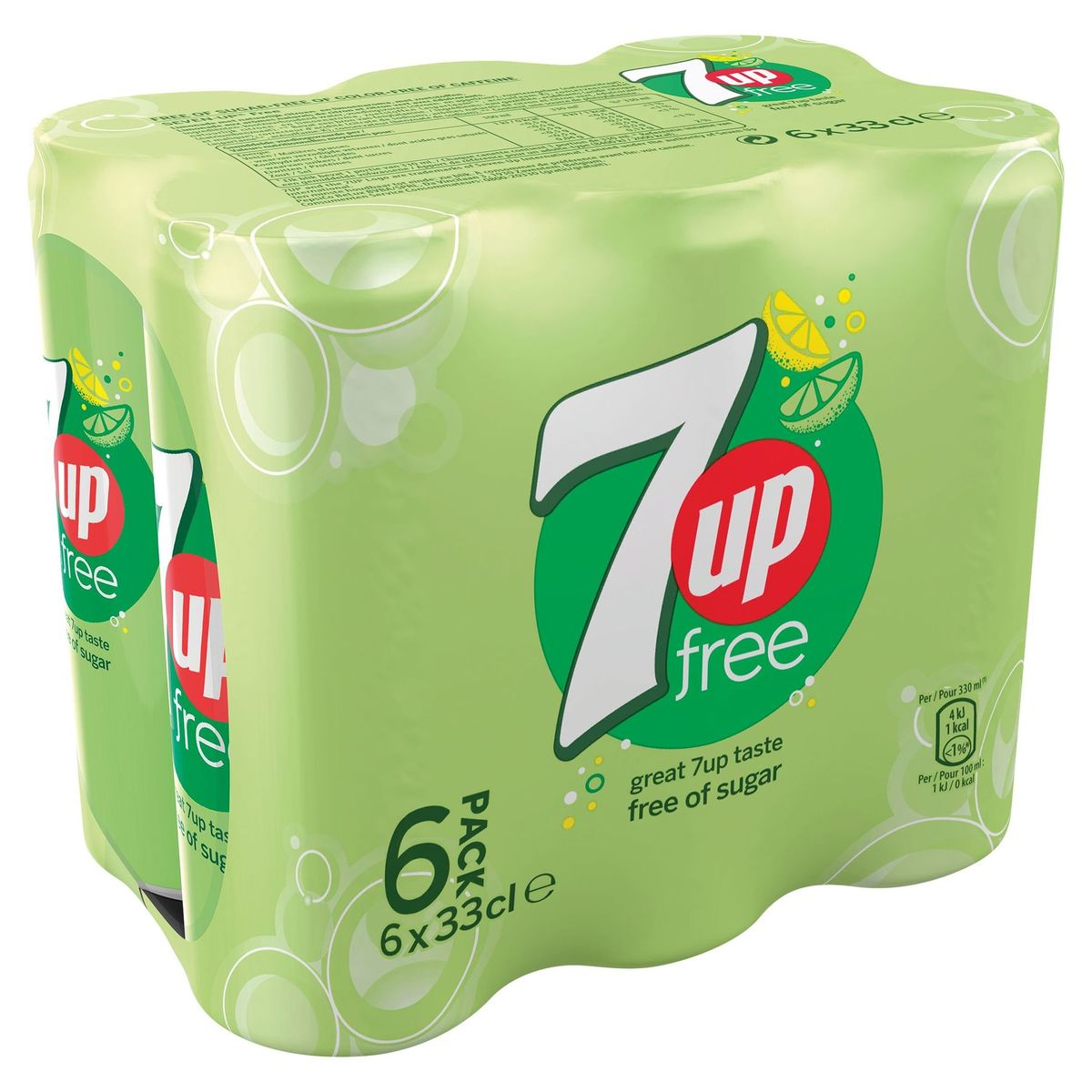 7UP Free Limonade 6x33 cl