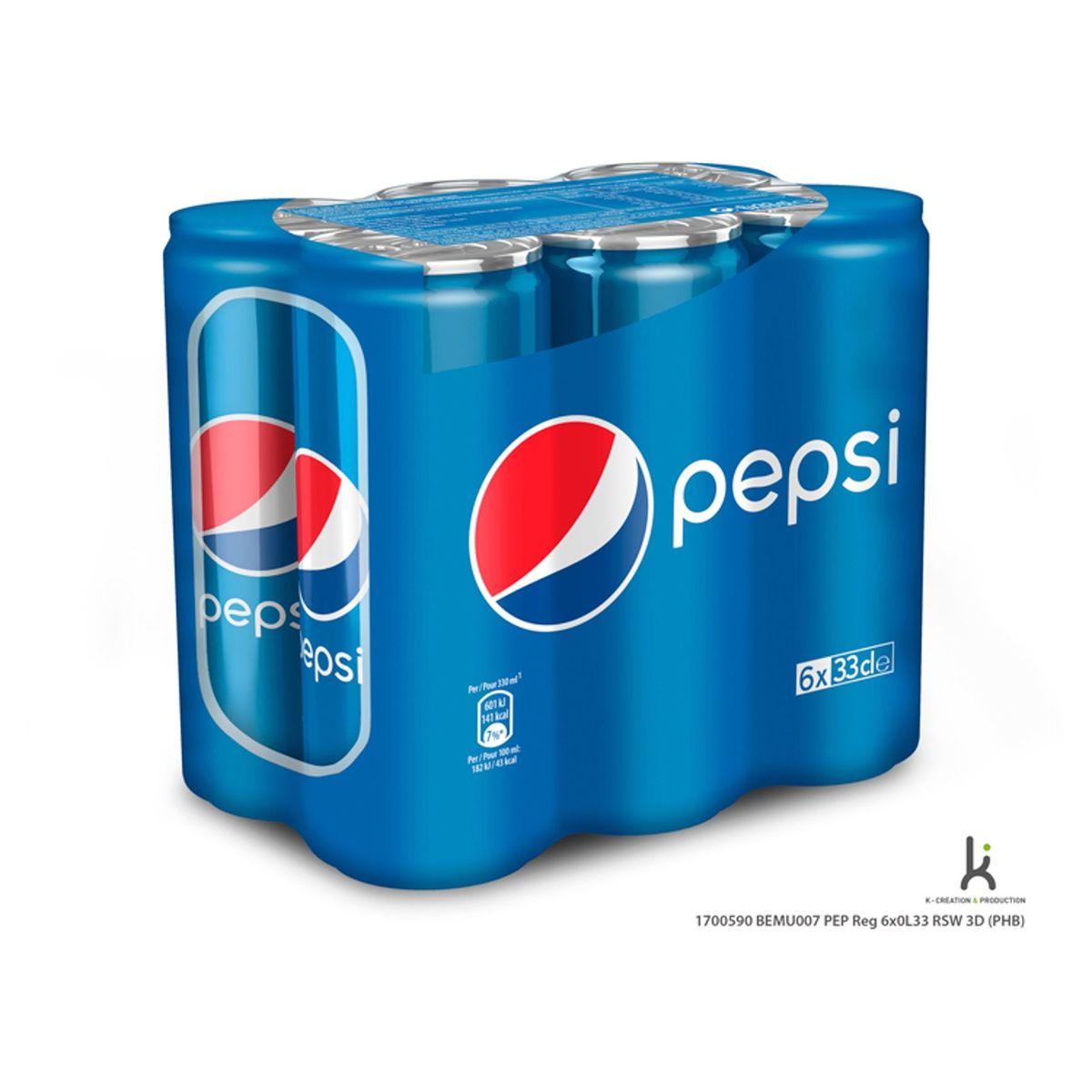Pepsi Regular Cola 6x33 cl