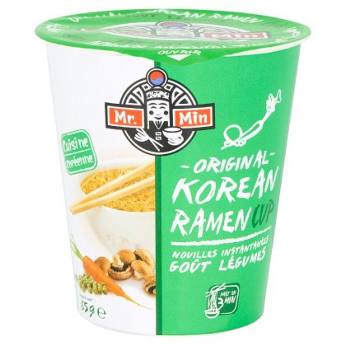 Mr. Min Original Korean Ramen Cup Noodles Instant Groenten 65 g