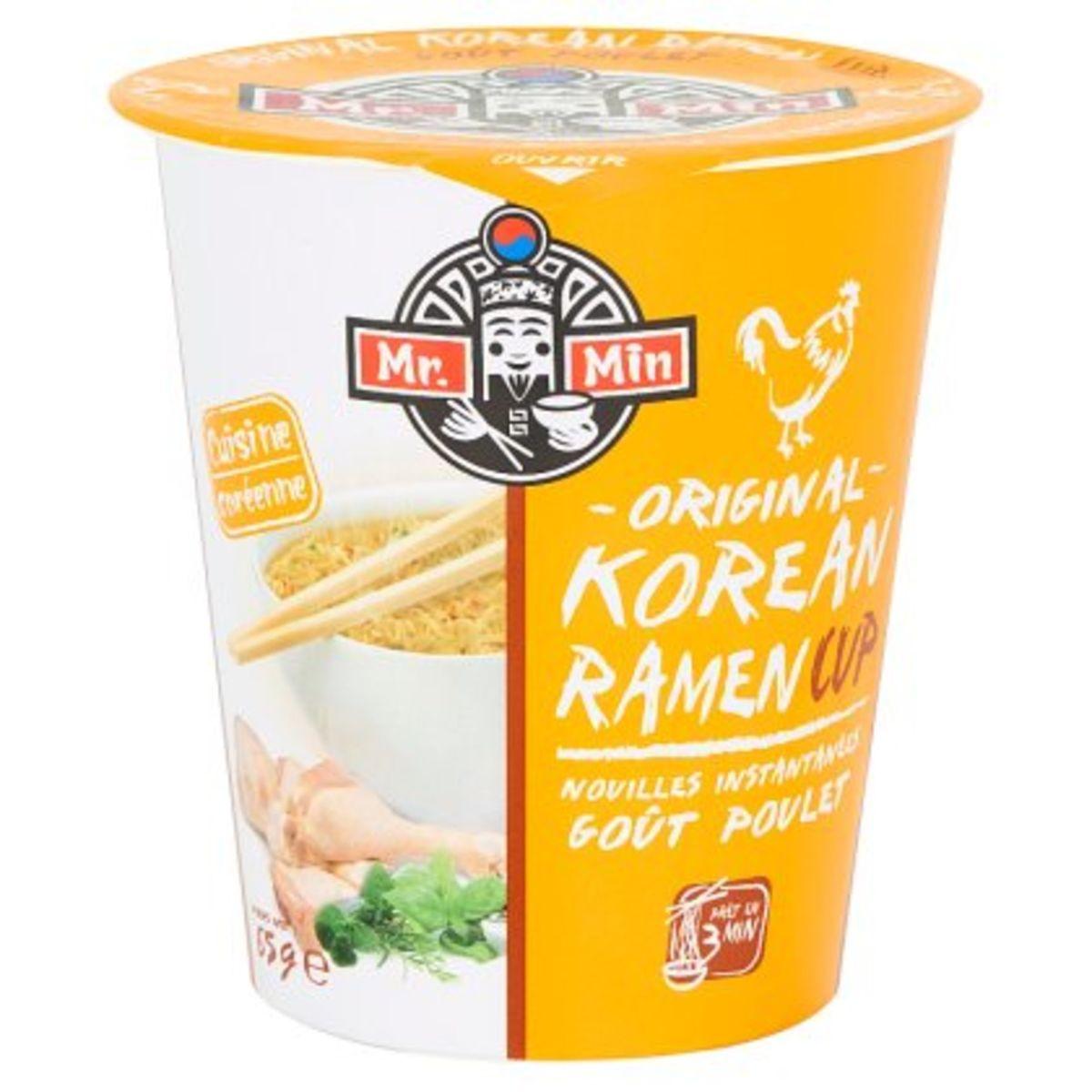 Mr. Min Original Korean Ramen Cup Noodles Instant Kip 65 g