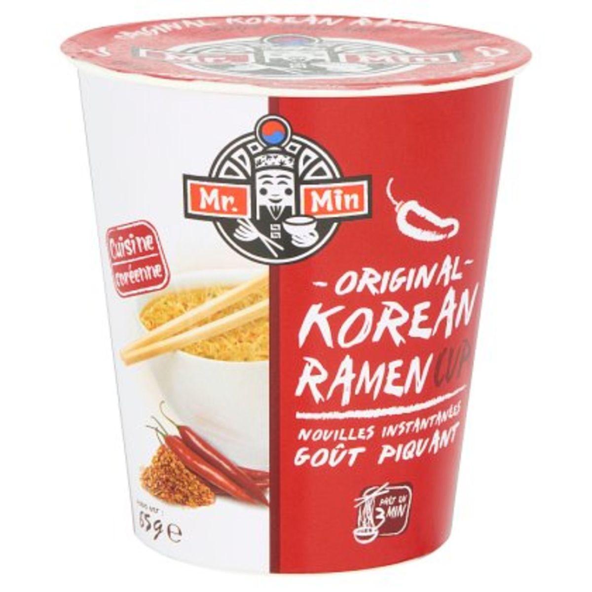 Mr. Min Original Korean Ramen Cup Noodles Instant Pikant 65 g