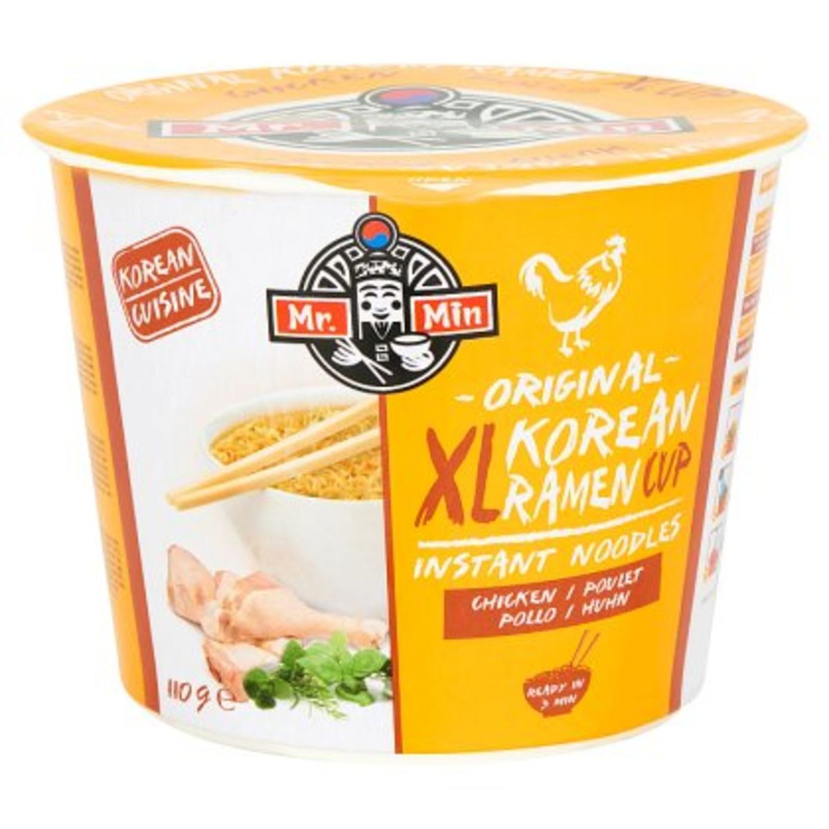 Mr. Min Original Korean Ramen Cup XL Instant Noodles Chicken 110 g