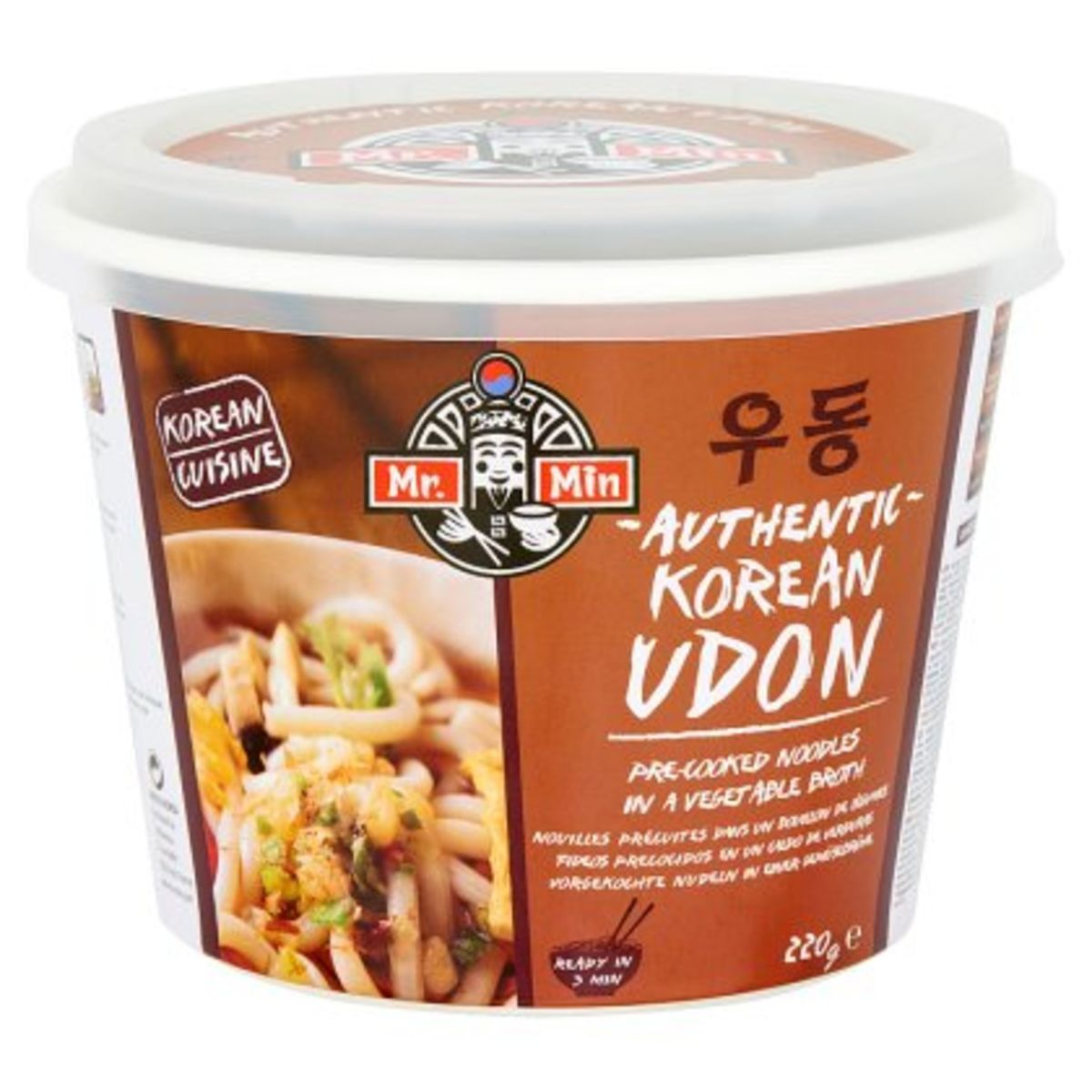 Mr. Min Authentic Korean Udon Noodles in Groenten Bouillon 220 g