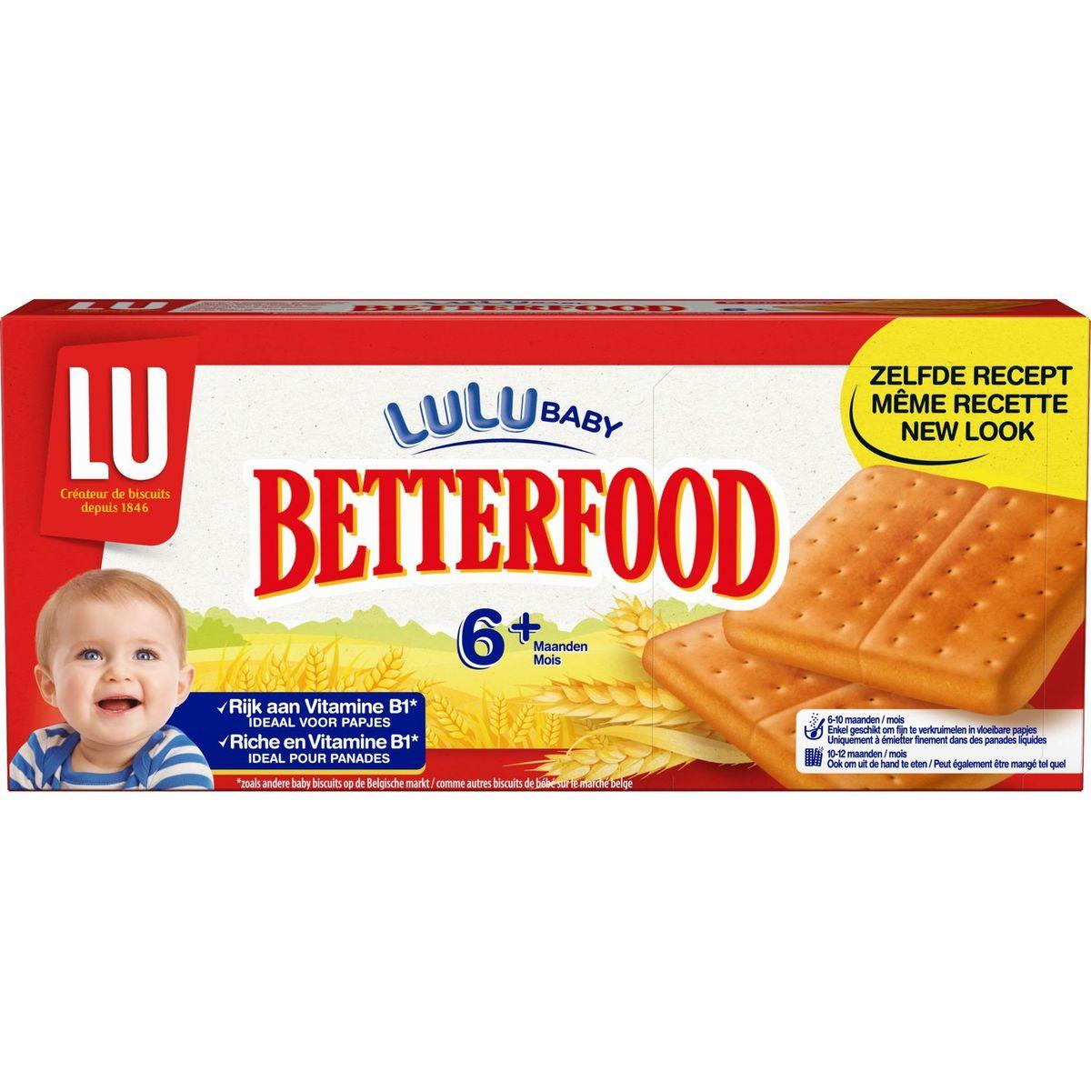 LU Betterfood Le 1er Biscuit pour Panades 6M+ et Plus 6 Pochons 175 g