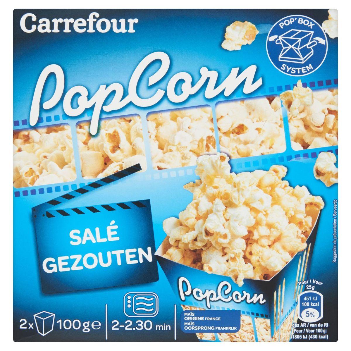 Carrefour Popcorn Salé 2 x 100 g
