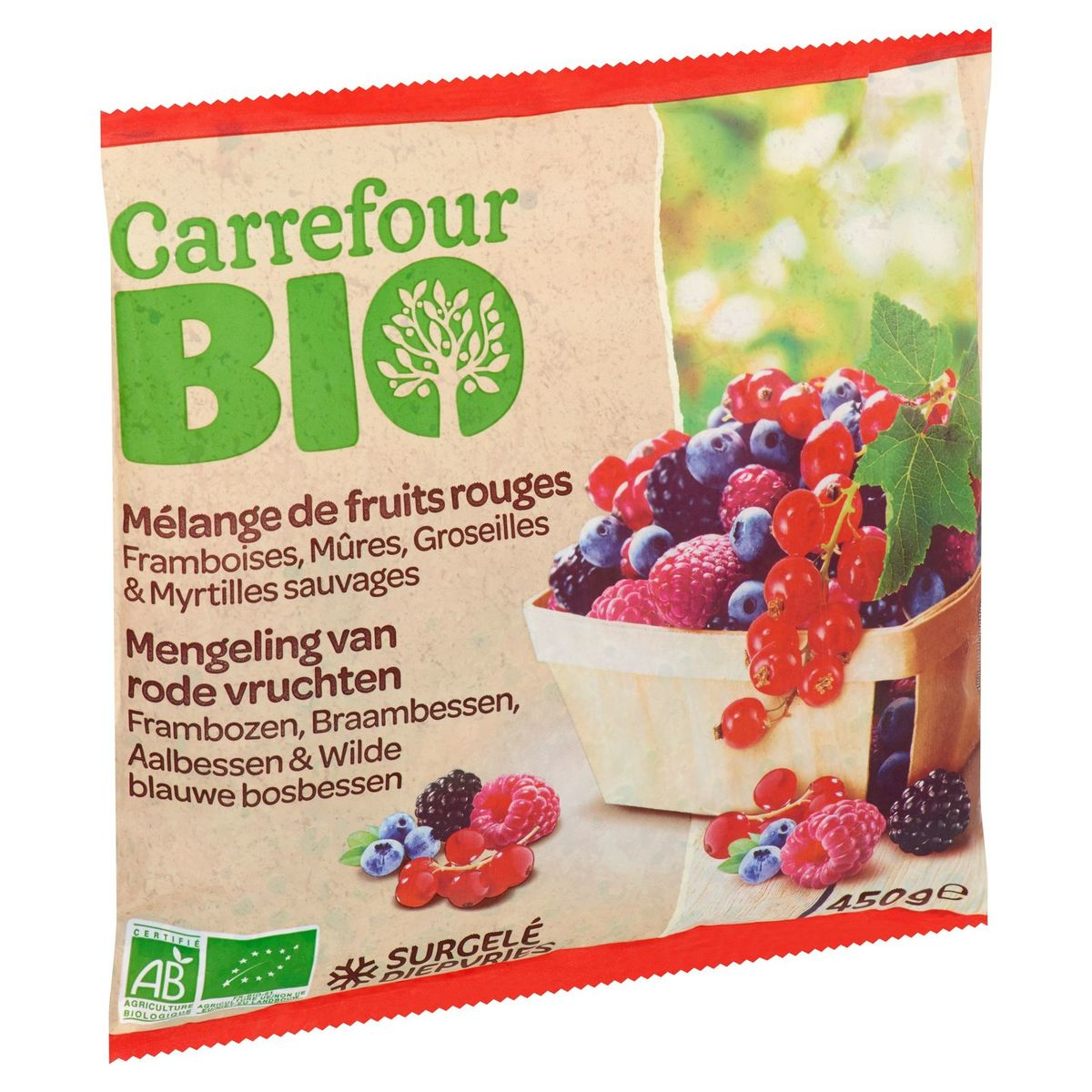 Carrefour Bio Mengeling van Rode Vruchten 450 g