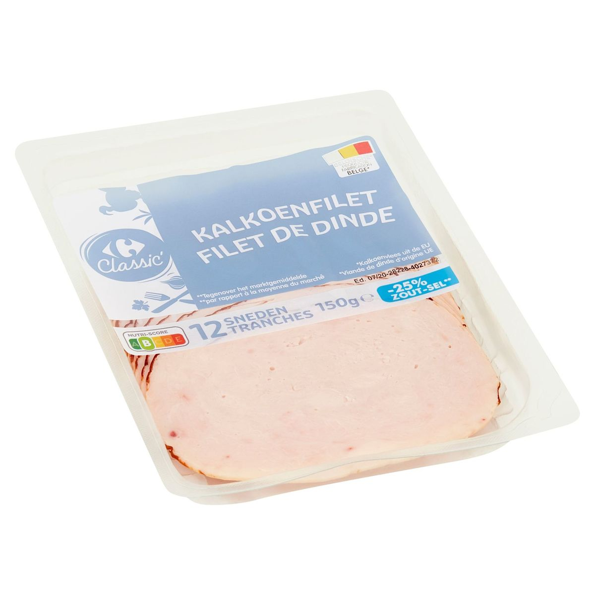 Carrefour Classic' Kalkoenfilet 12 Sneden 150 g