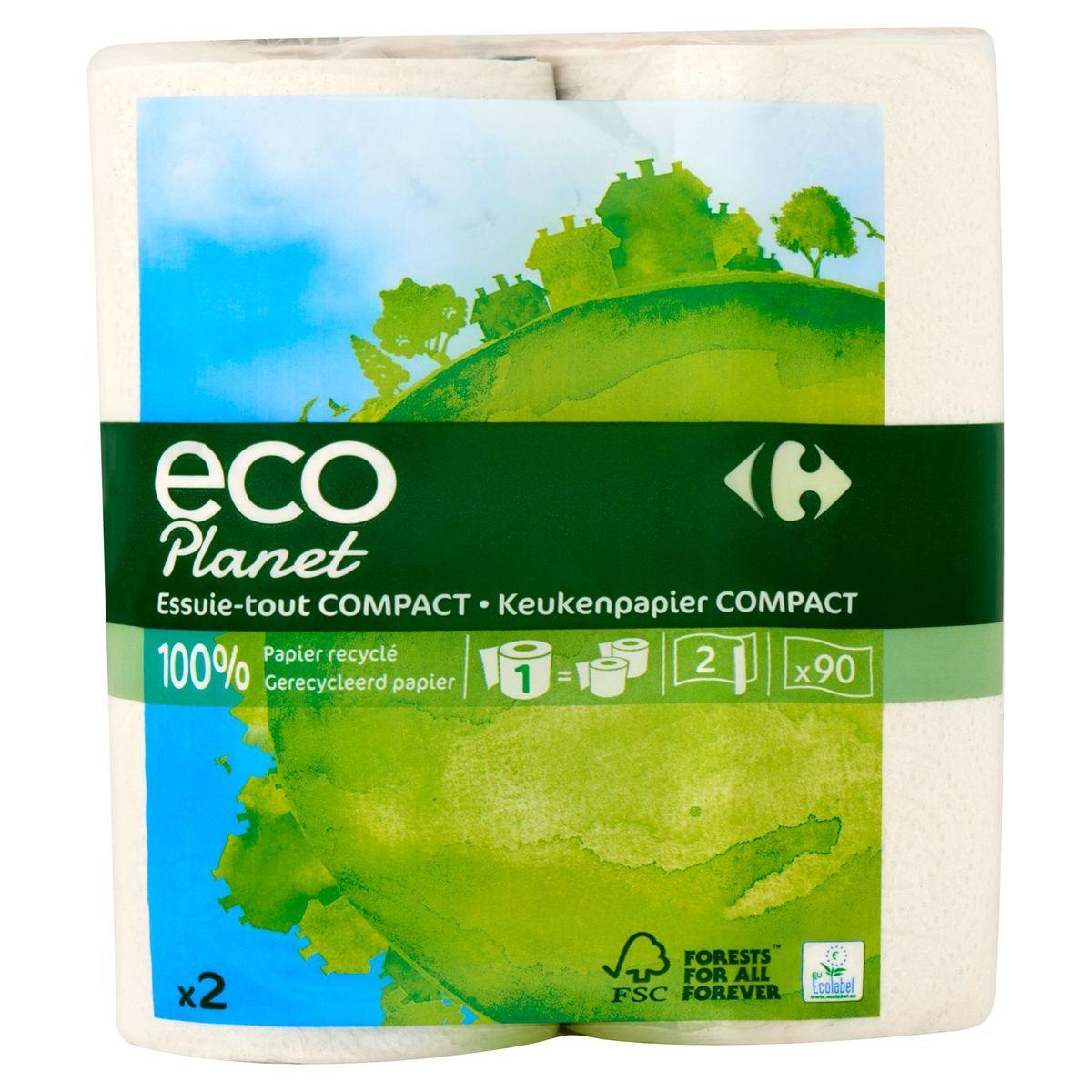 Carrefour Eco Planet Keukenpapier Compact 2 Lagen 2 Rollen