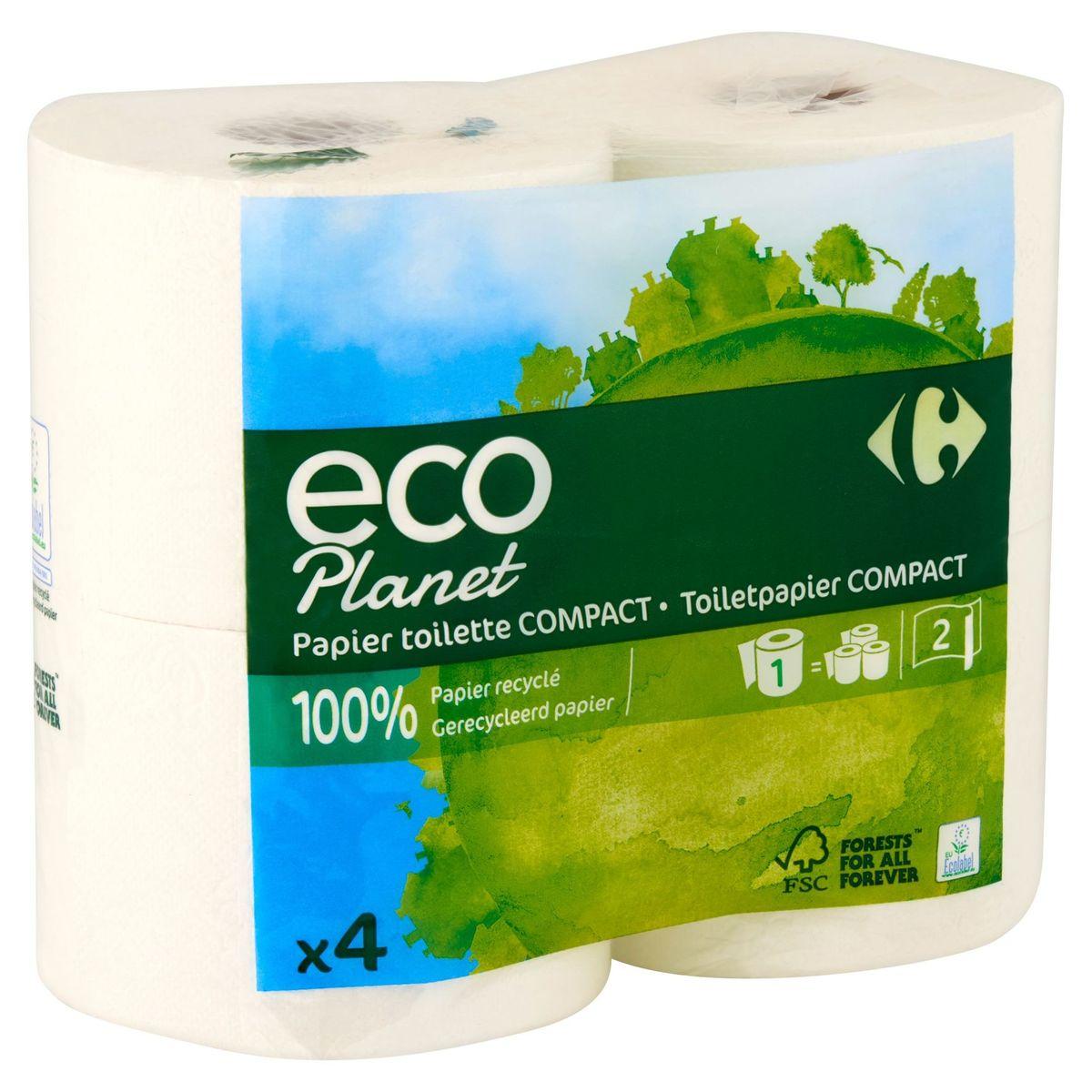 Carrefour Eco Planet Toiletpapier Compact 2 Lagen 4 Rollen
