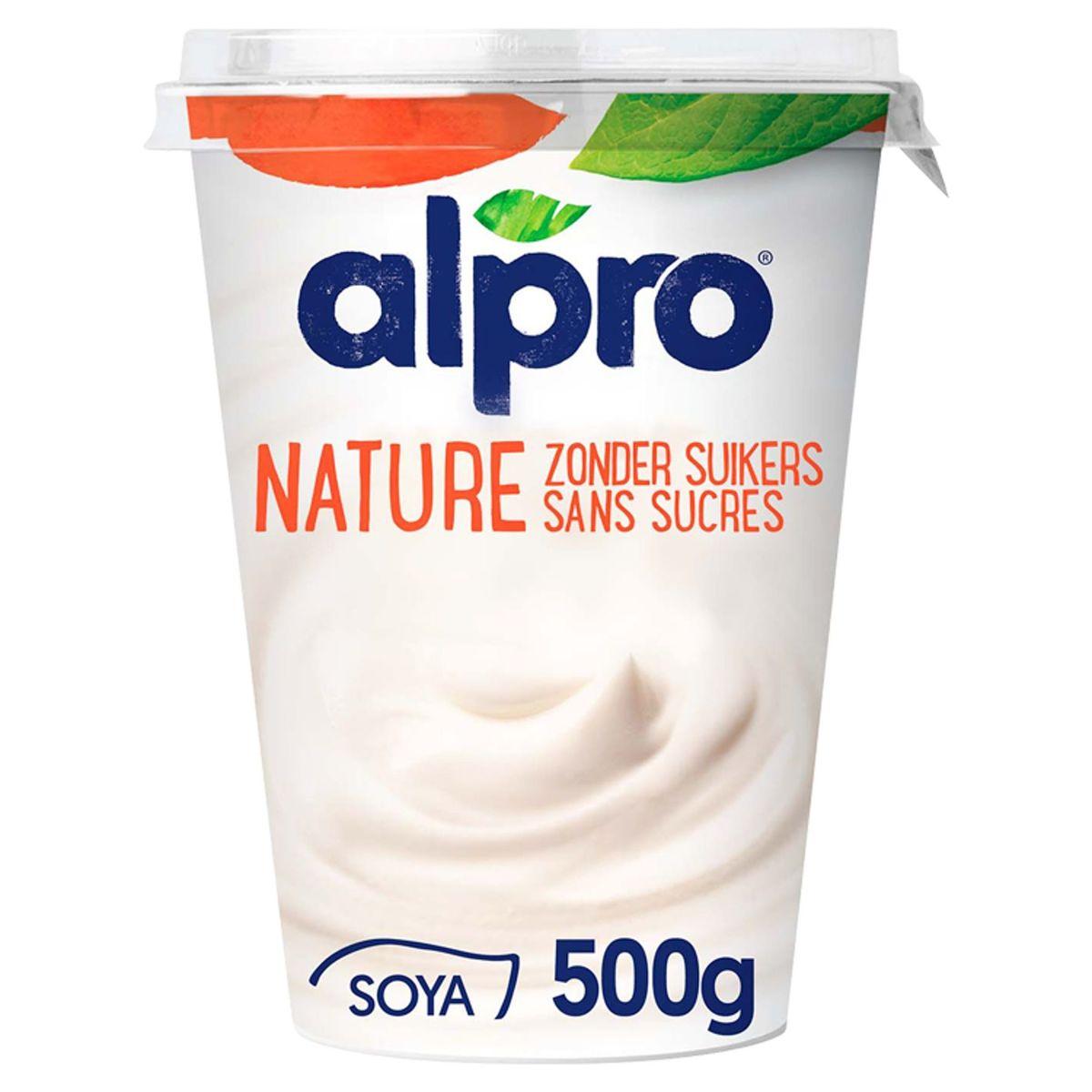Alpro Natuur Plantaardig Alternatief voor Yoghurt Zonder Suikers 500 g