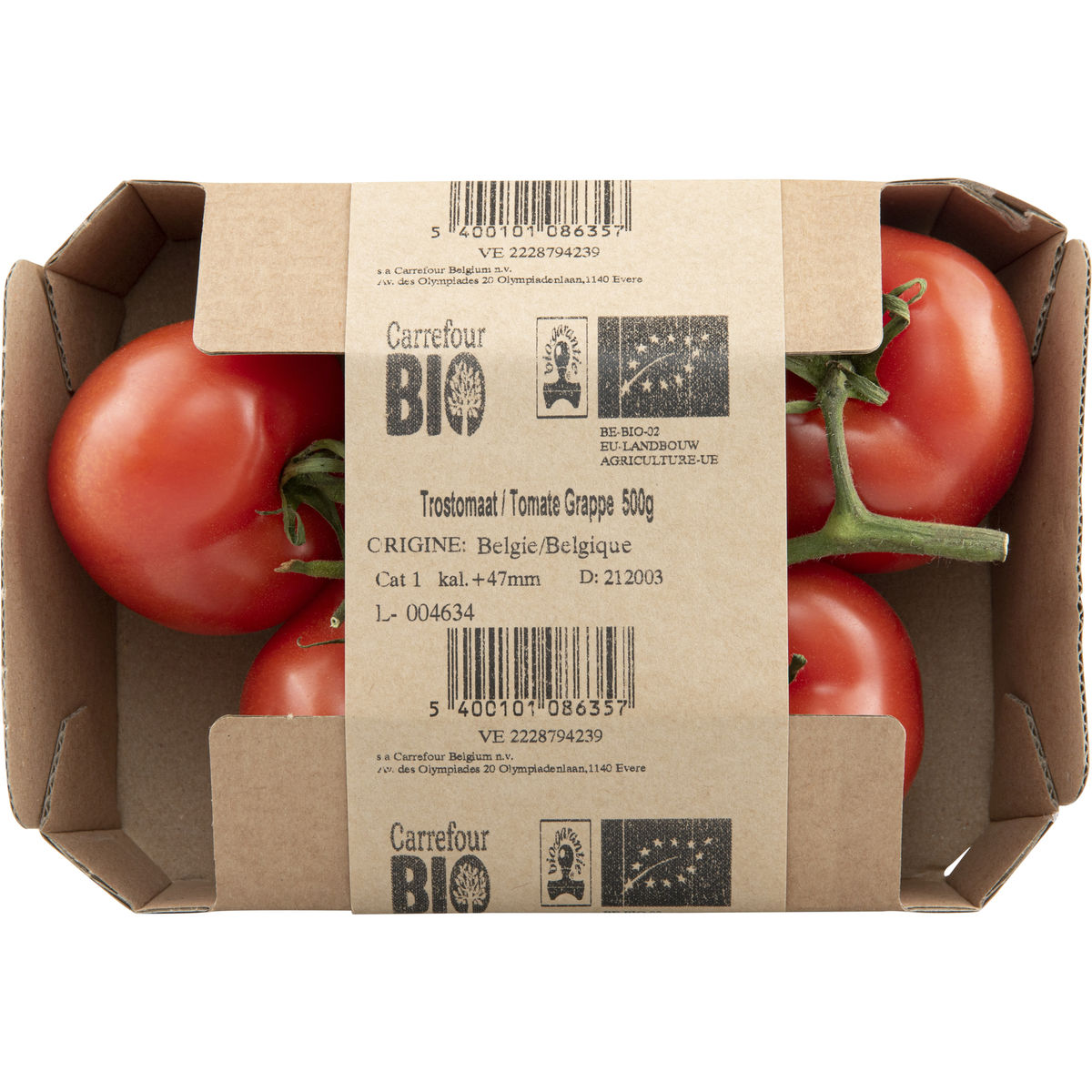 Carrefour BIO Tomates en Grappe 500 g