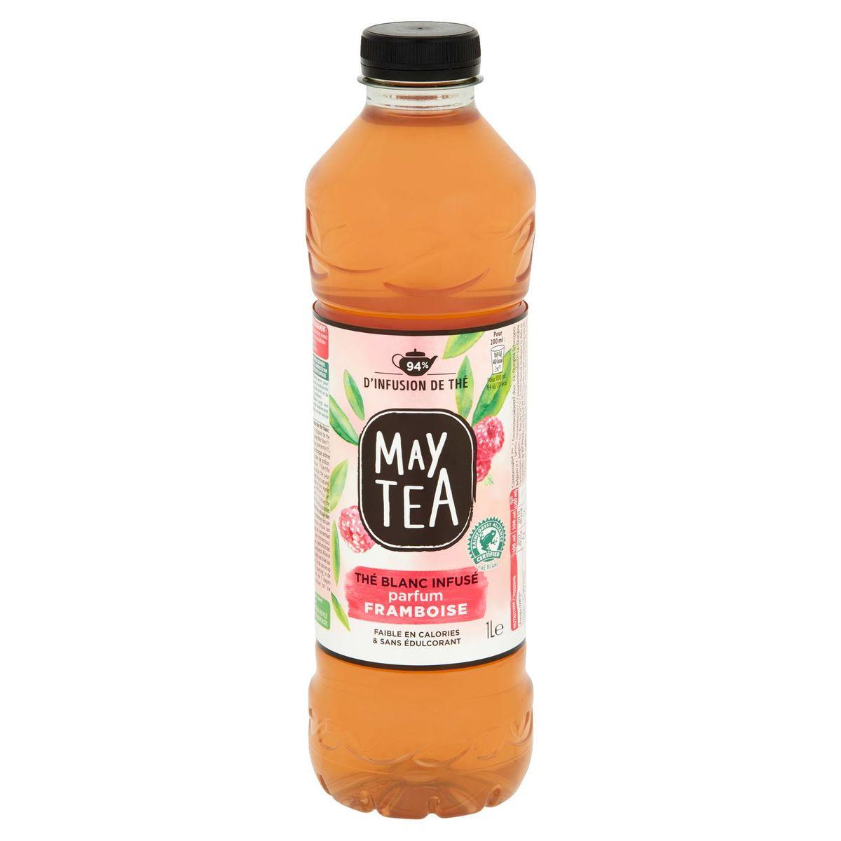 May Tea Geïnfuseerde Ijsthee Witte Thee met Aroma van Framboos 1 L