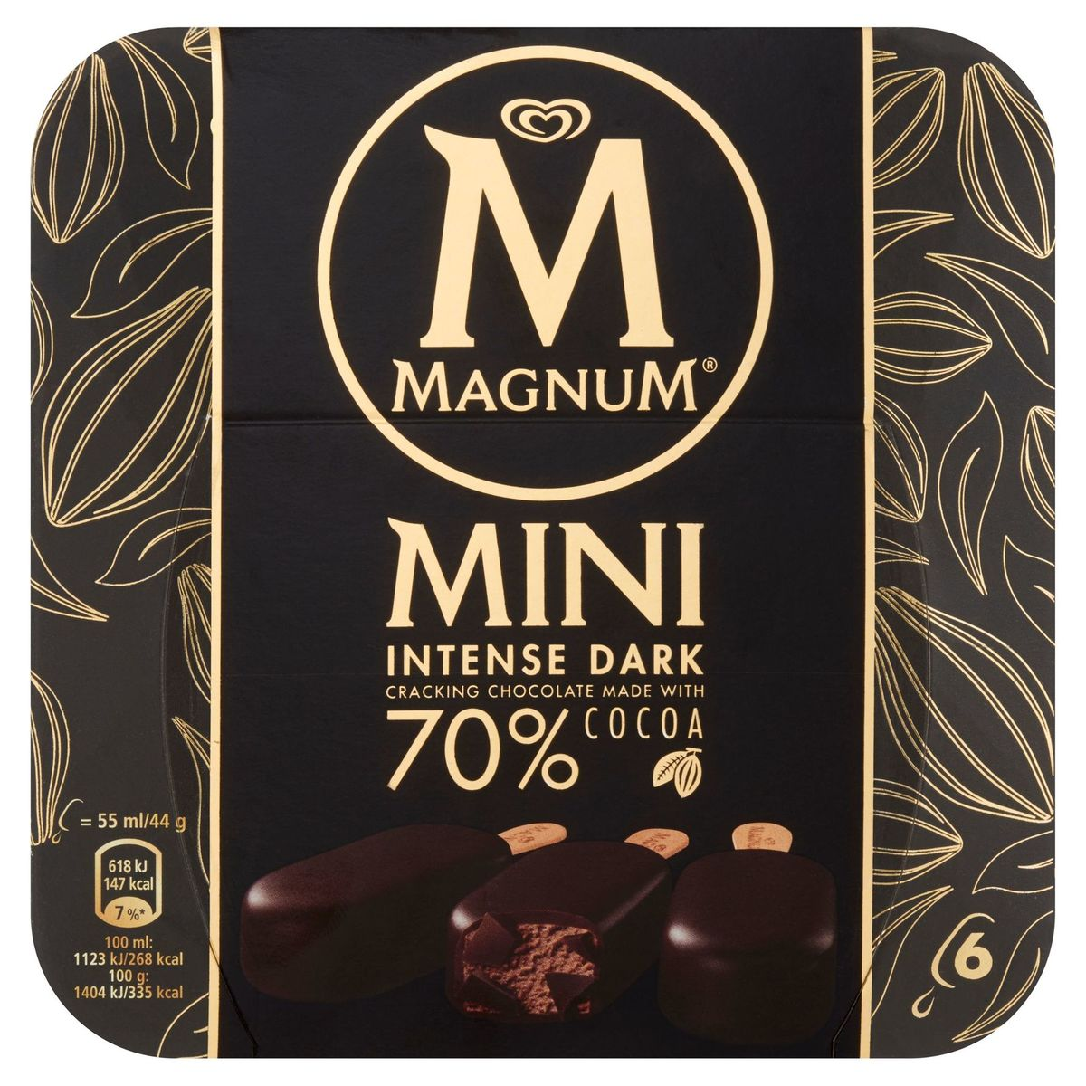Magnum Ola Multipack Ijs Intense Dark Chocolate 6 x 55 ml