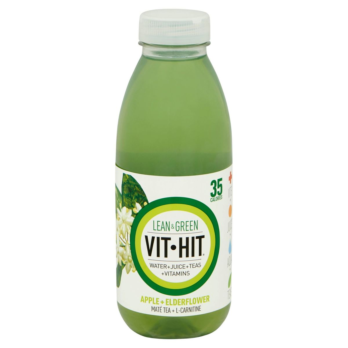 Vit Hit Lean & Green Apple + Elderflower 500 ml