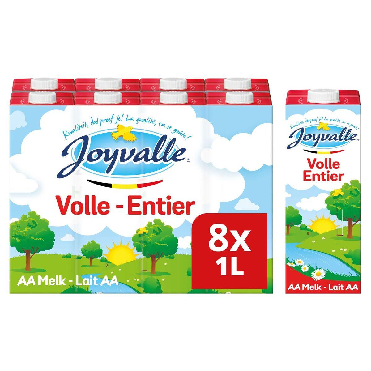Joyvalle Lait AA Entier 8 x 1 L