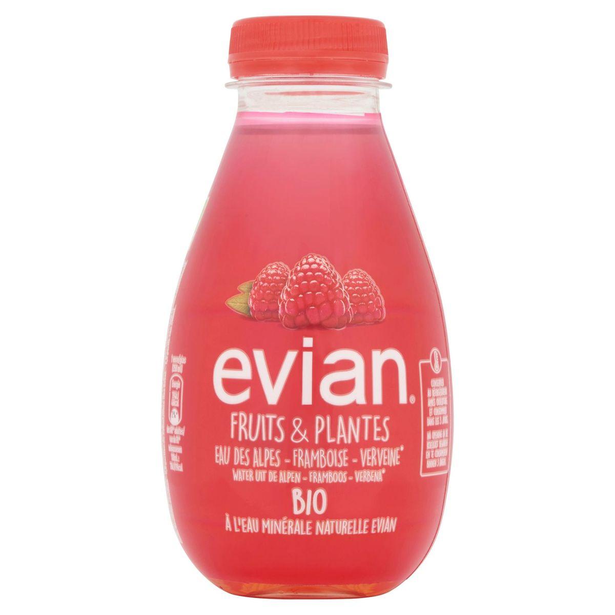 Evian Fruits & Plantes Water uit de Alpen Framboos Verbena Bio 37 cl